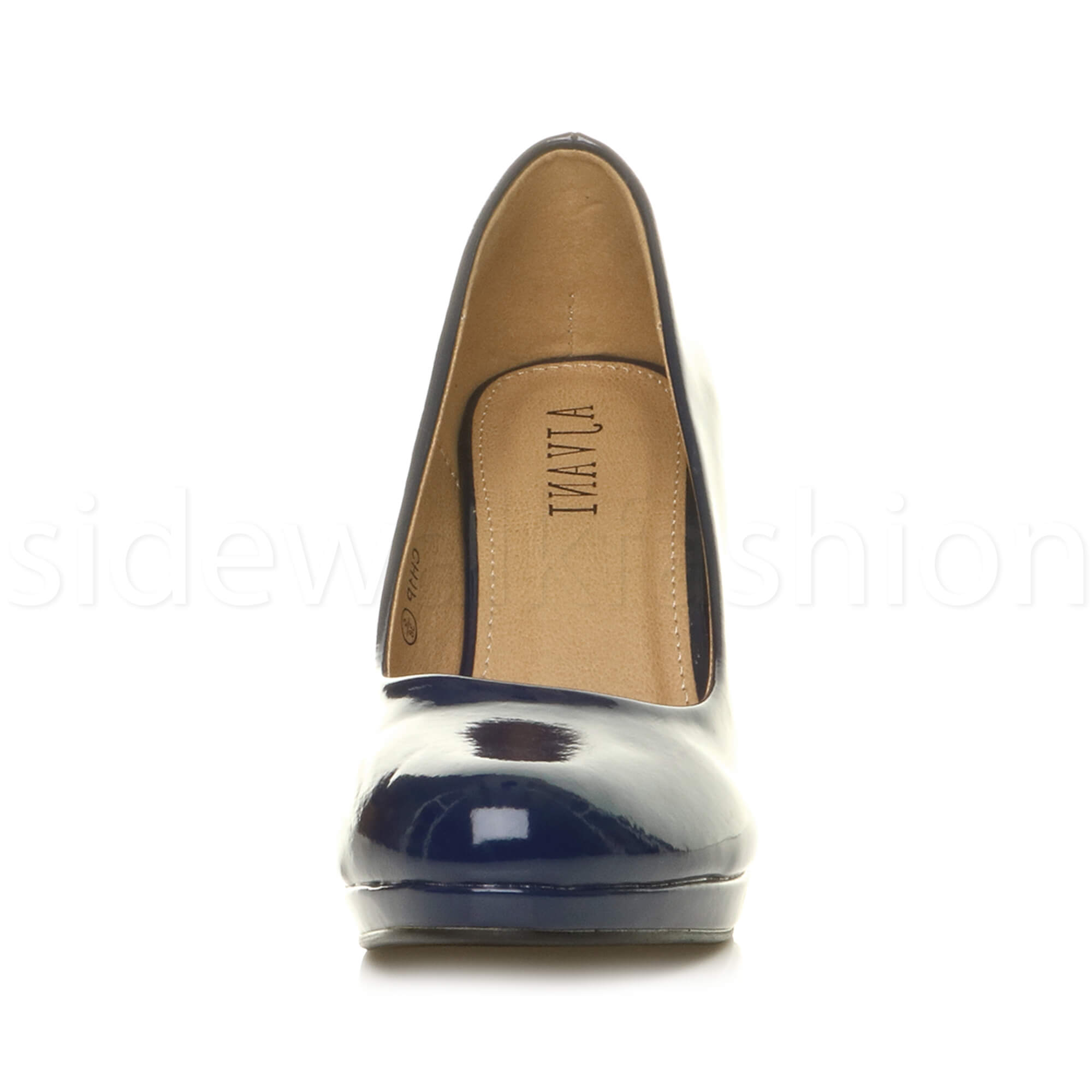 Womens-ladies-high-mid-heel-platform-wedding-evening-bridesmaid-court-shoes-size thumbnail 111