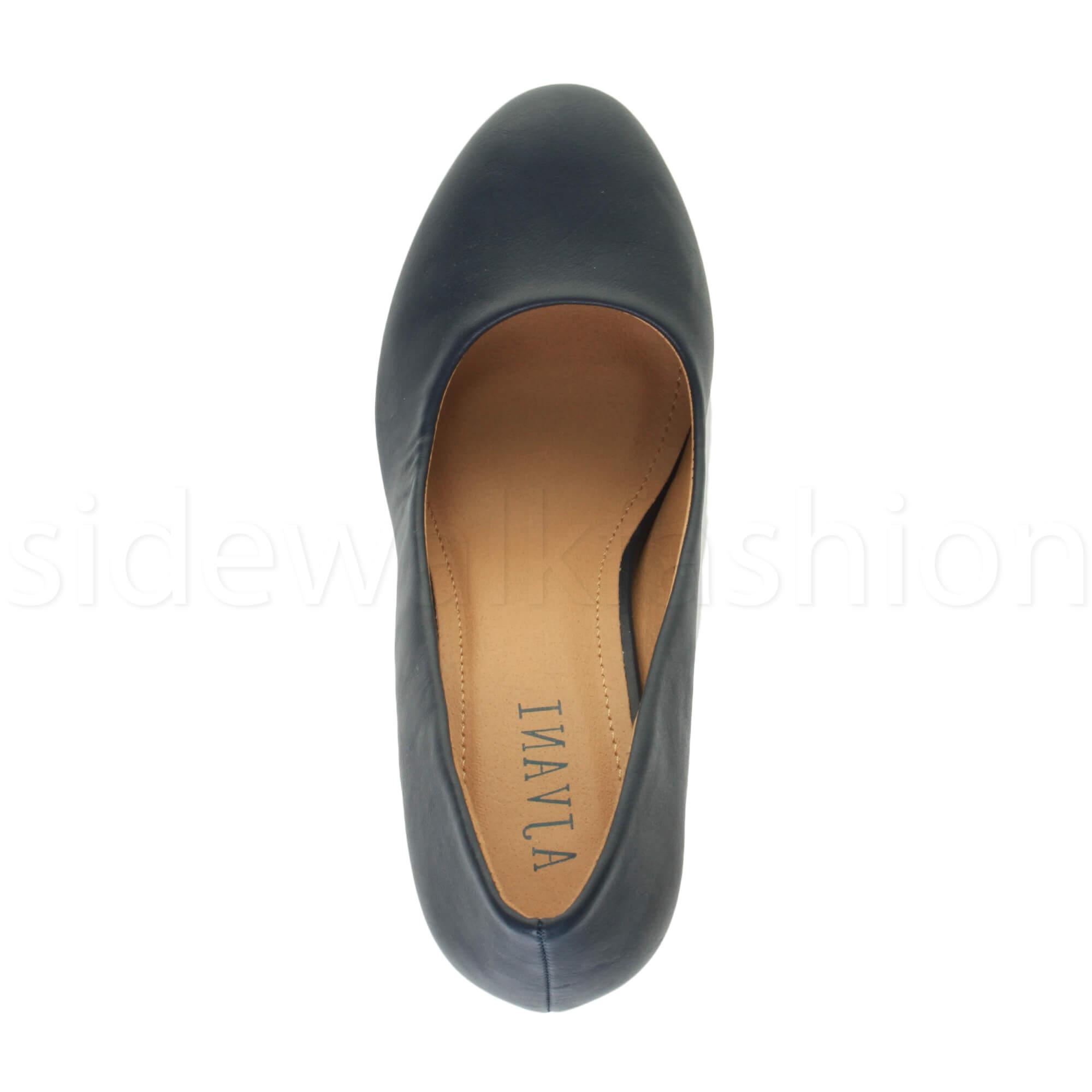 Womens-ladies-high-mid-heel-platform-wedding-evening-bridesmaid-court-shoes-size thumbnail 105