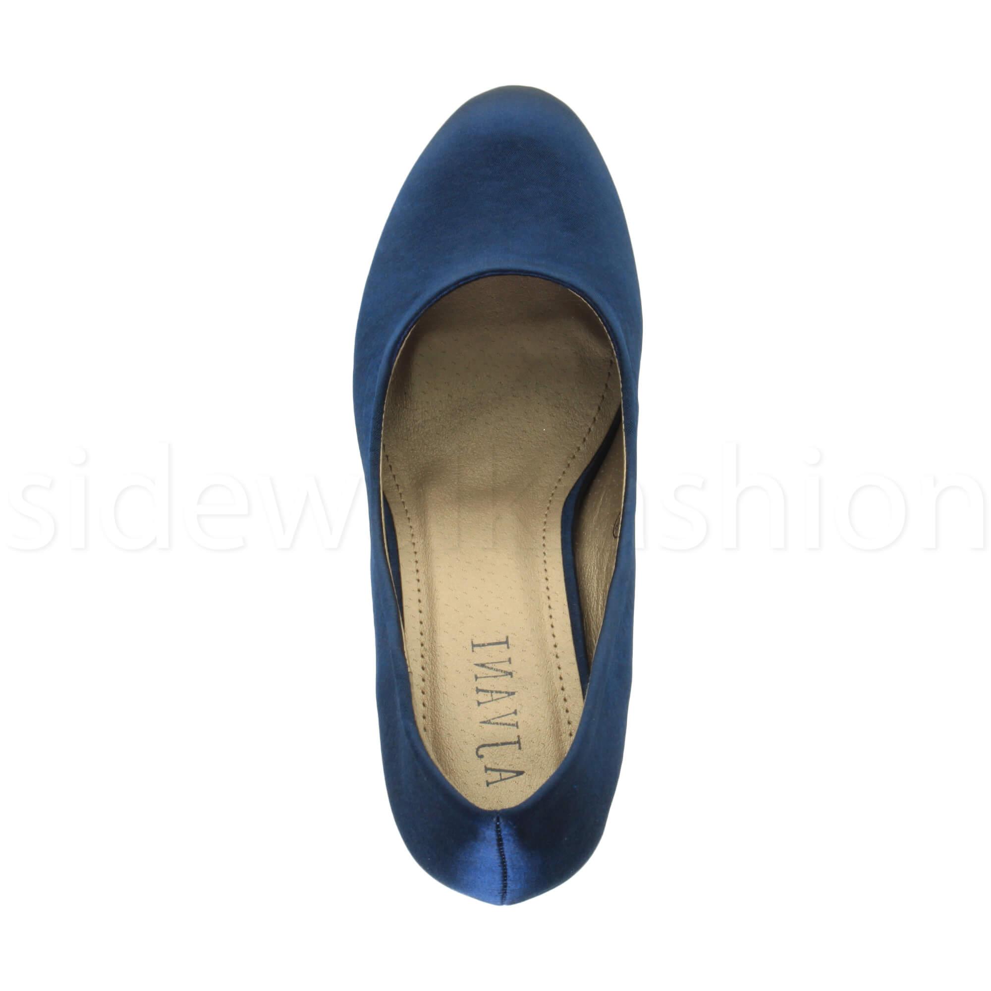 Womens-ladies-high-mid-heel-platform-wedding-evening-bridesmaid-court-shoes-size thumbnail 119