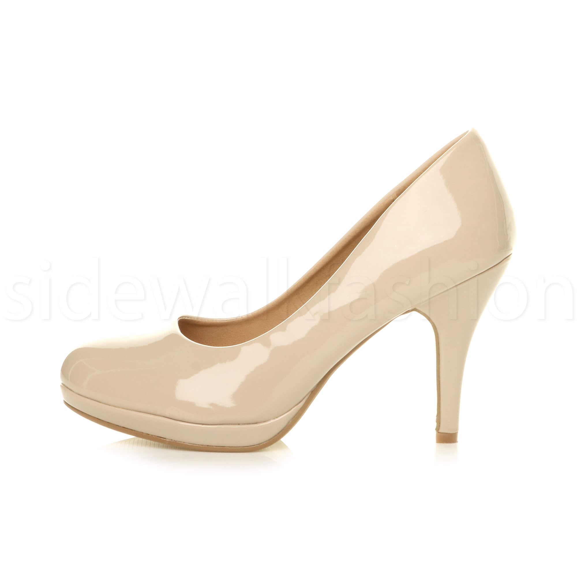 Womens-ladies-high-mid-heel-platform-wedding-evening-bridesmaid-court-shoes-size thumbnail 122