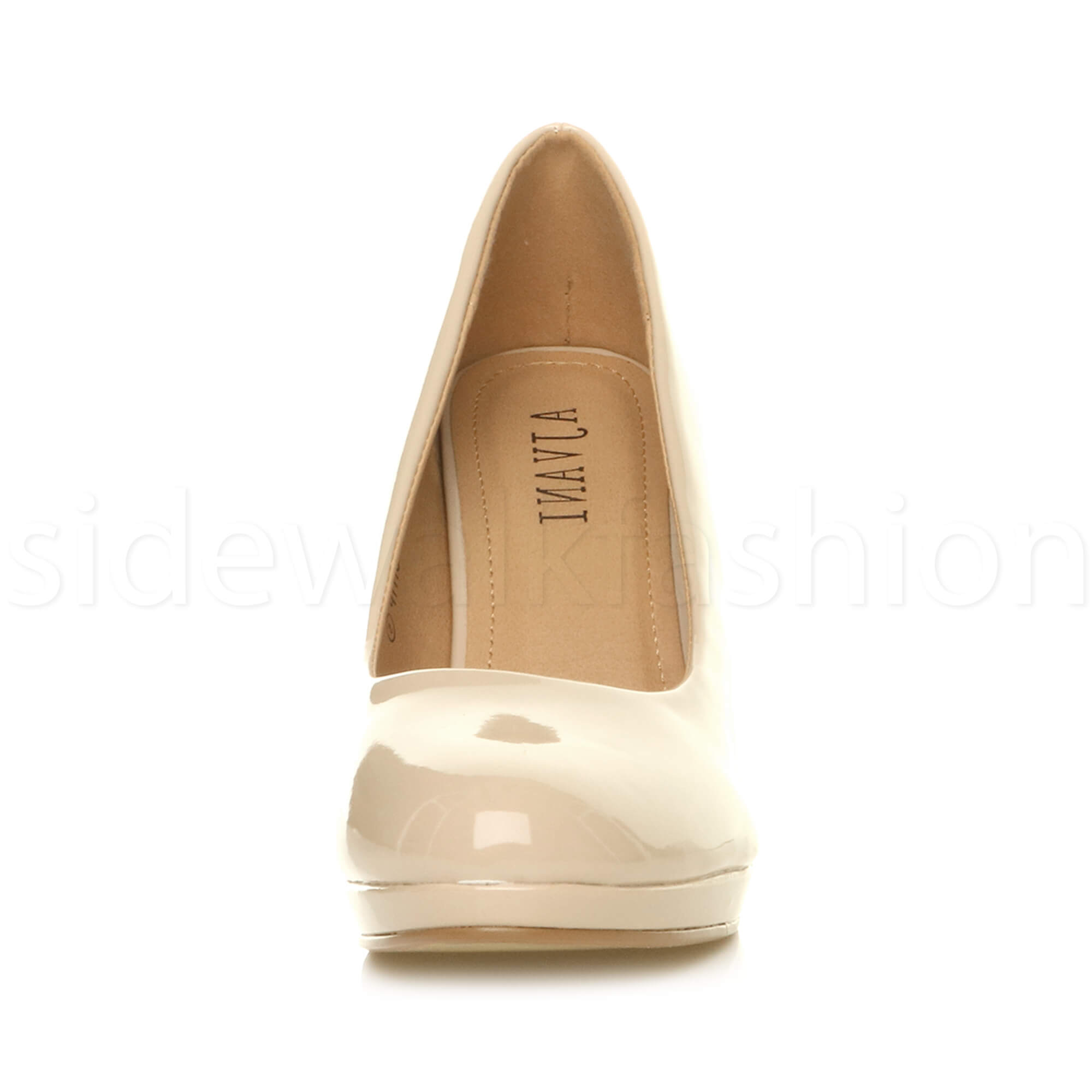 Womens-ladies-high-mid-heel-platform-wedding-evening-bridesmaid-court-shoes-size thumbnail 125