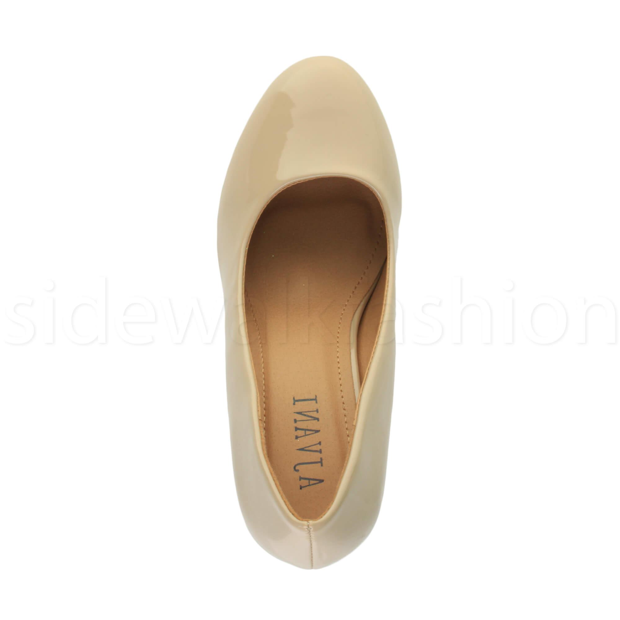 Womens-ladies-high-mid-heel-platform-wedding-evening-bridesmaid-court-shoes-size thumbnail 126