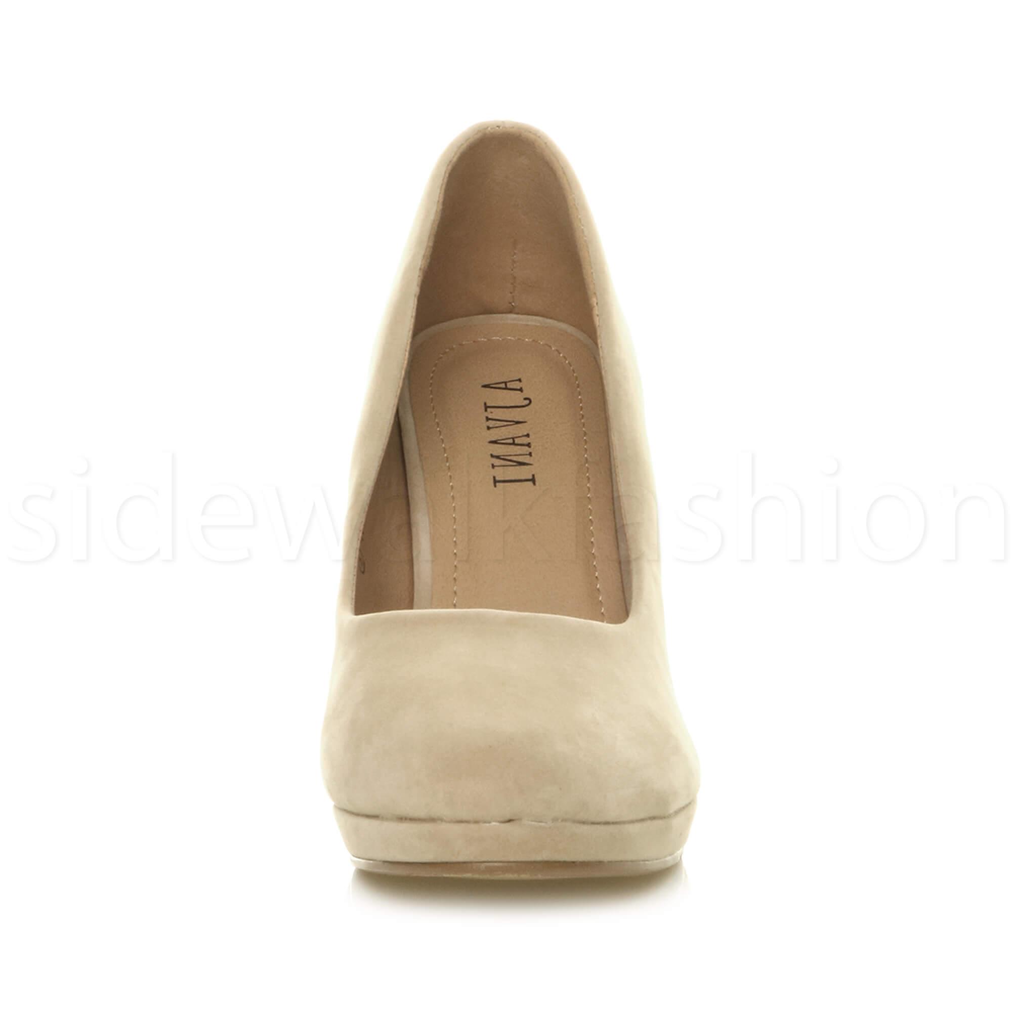 Womens-ladies-high-mid-heel-platform-wedding-evening-bridesmaid-court-shoes-size thumbnail 132