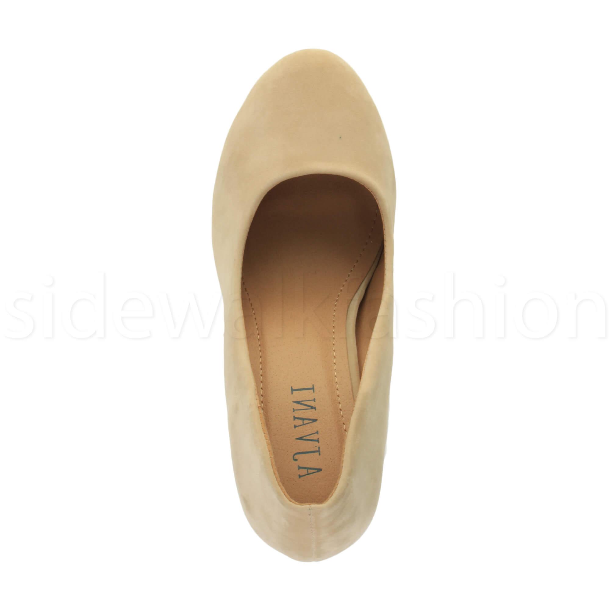 Womens-ladies-high-mid-heel-platform-wedding-evening-bridesmaid-court-shoes-size thumbnail 133