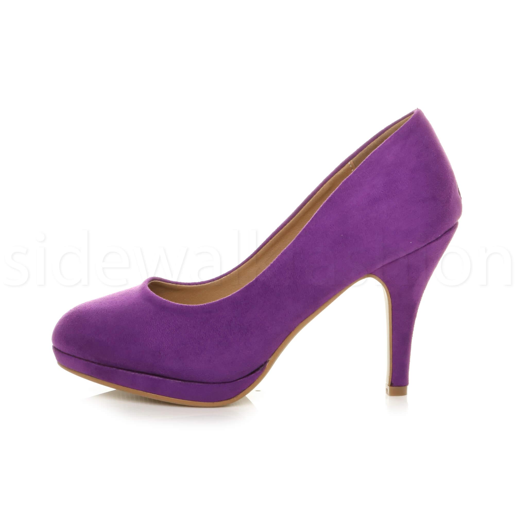 Womens-ladies-high-mid-heel-platform-wedding-evening-bridesmaid-court-shoes-size thumbnail 136
