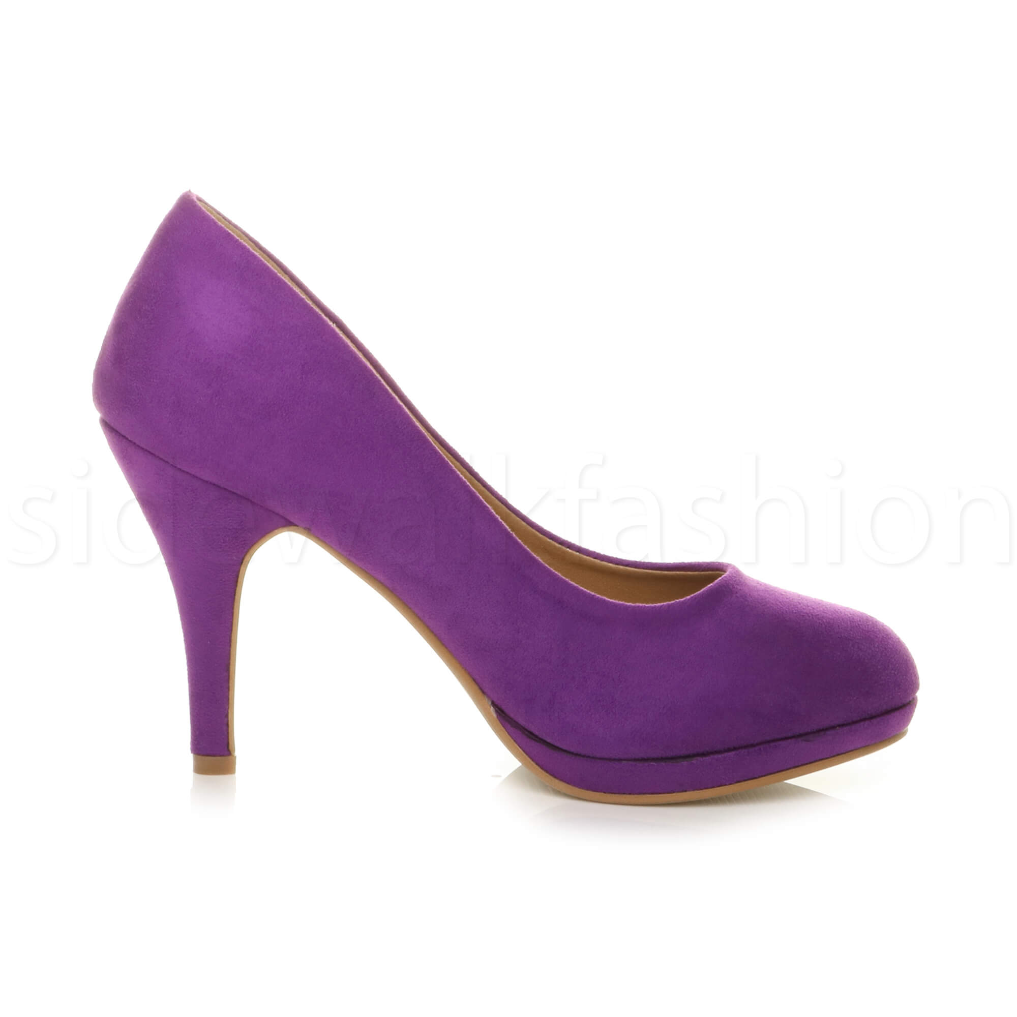 Womens-ladies-high-mid-heel-platform-wedding-evening-bridesmaid-court-shoes-size thumbnail 137