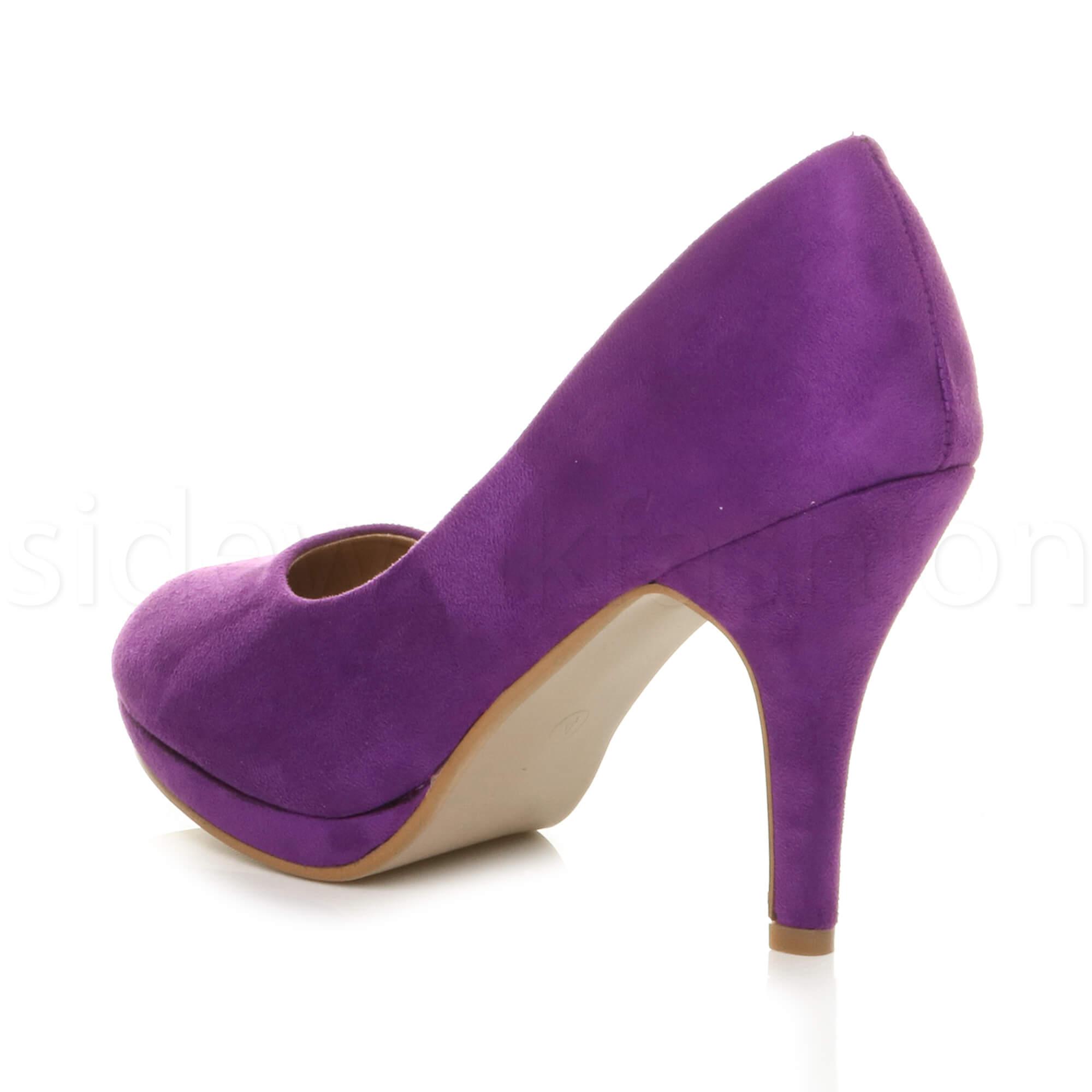 Womens-ladies-high-mid-heel-platform-wedding-evening-bridesmaid-court-shoes-size thumbnail 138