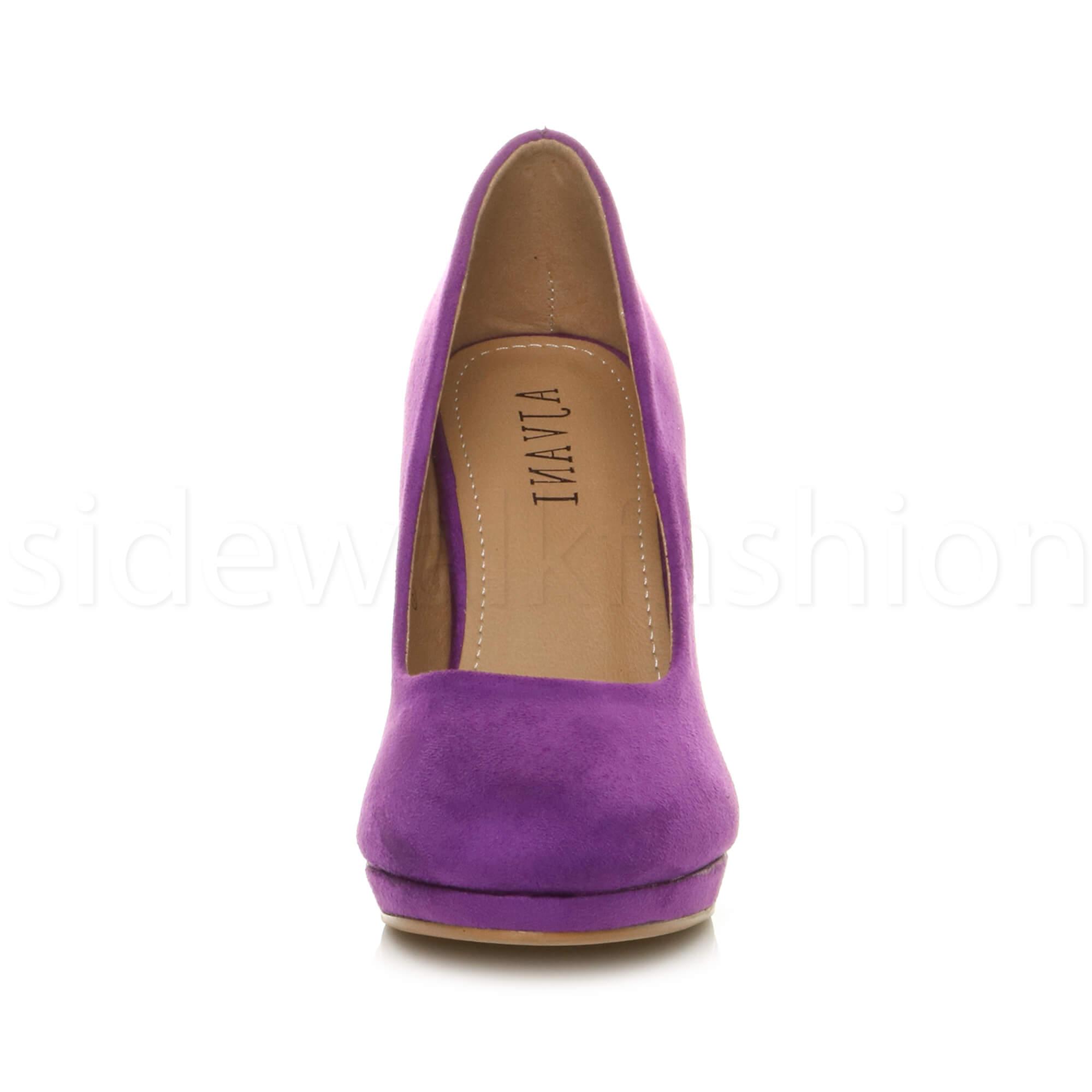 Womens-ladies-high-mid-heel-platform-wedding-evening-bridesmaid-court-shoes-size thumbnail 139