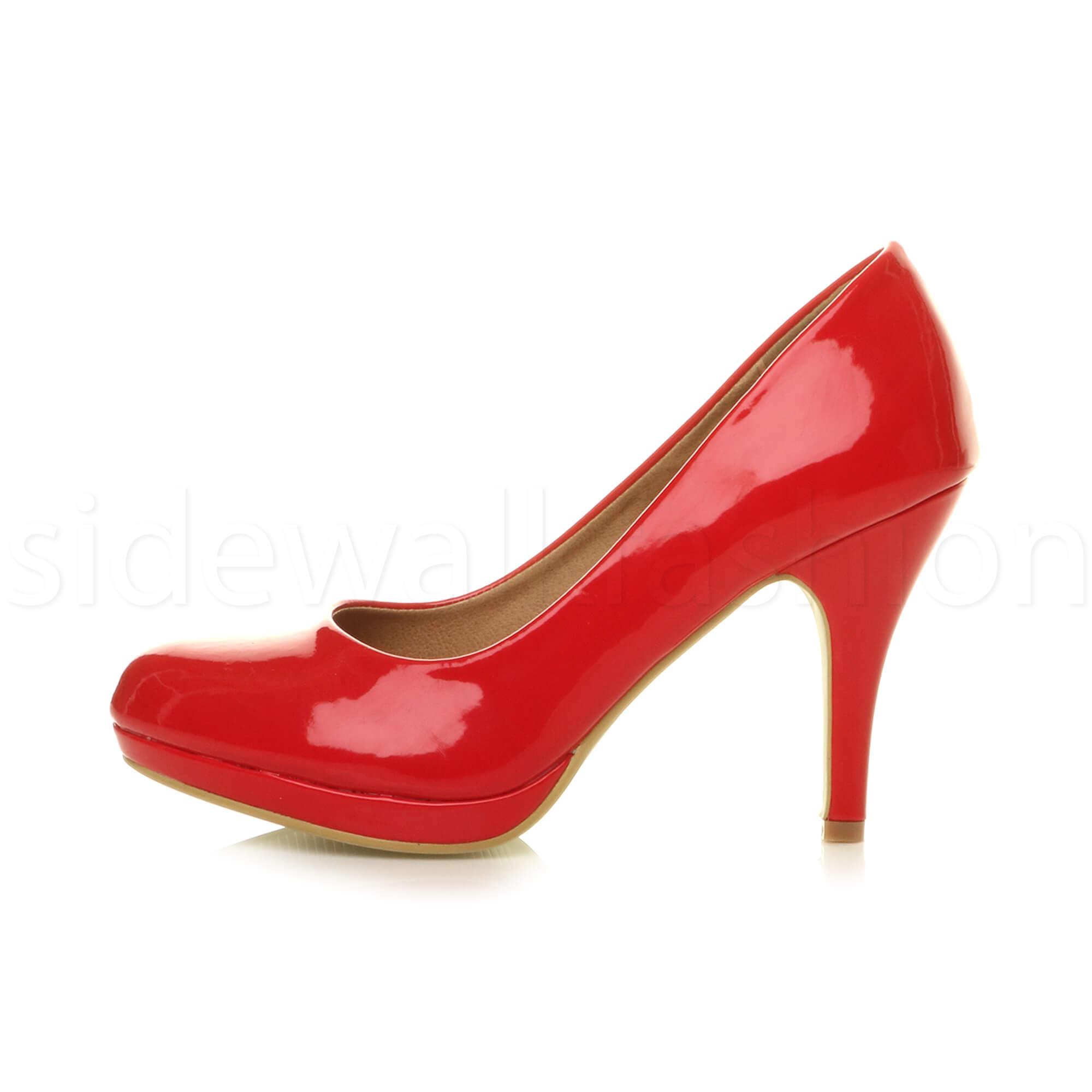 Womens-ladies-high-mid-heel-platform-wedding-evening-bridesmaid-court-shoes-size thumbnail 143