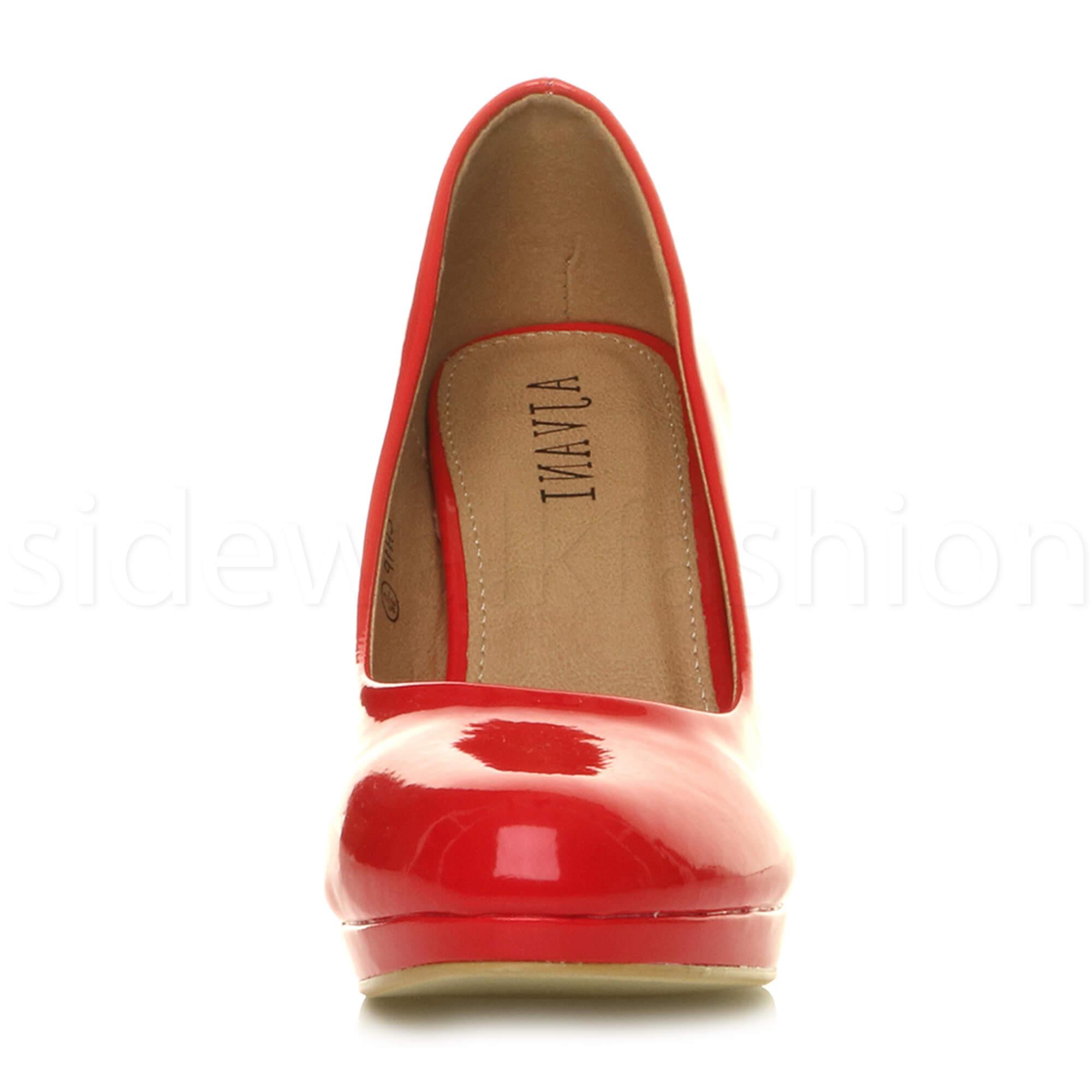 Womens-ladies-high-mid-heel-platform-wedding-evening-bridesmaid-court-shoes-size thumbnail 146