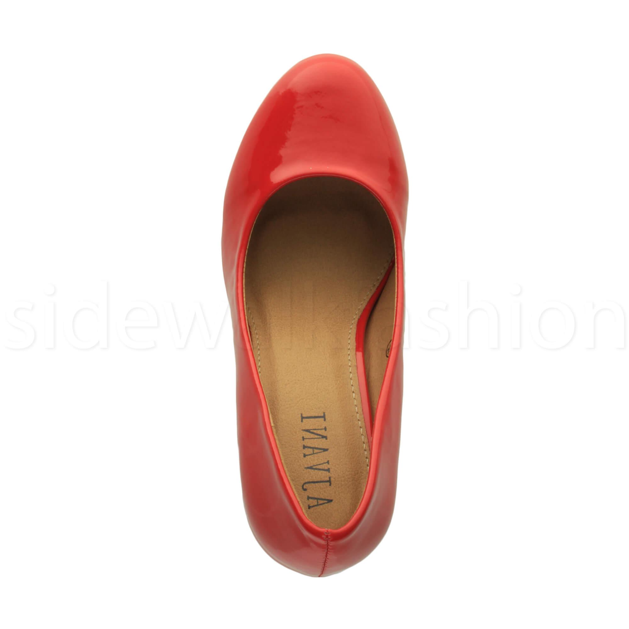Womens-ladies-high-mid-heel-platform-wedding-evening-bridesmaid-court-shoes-size thumbnail 147