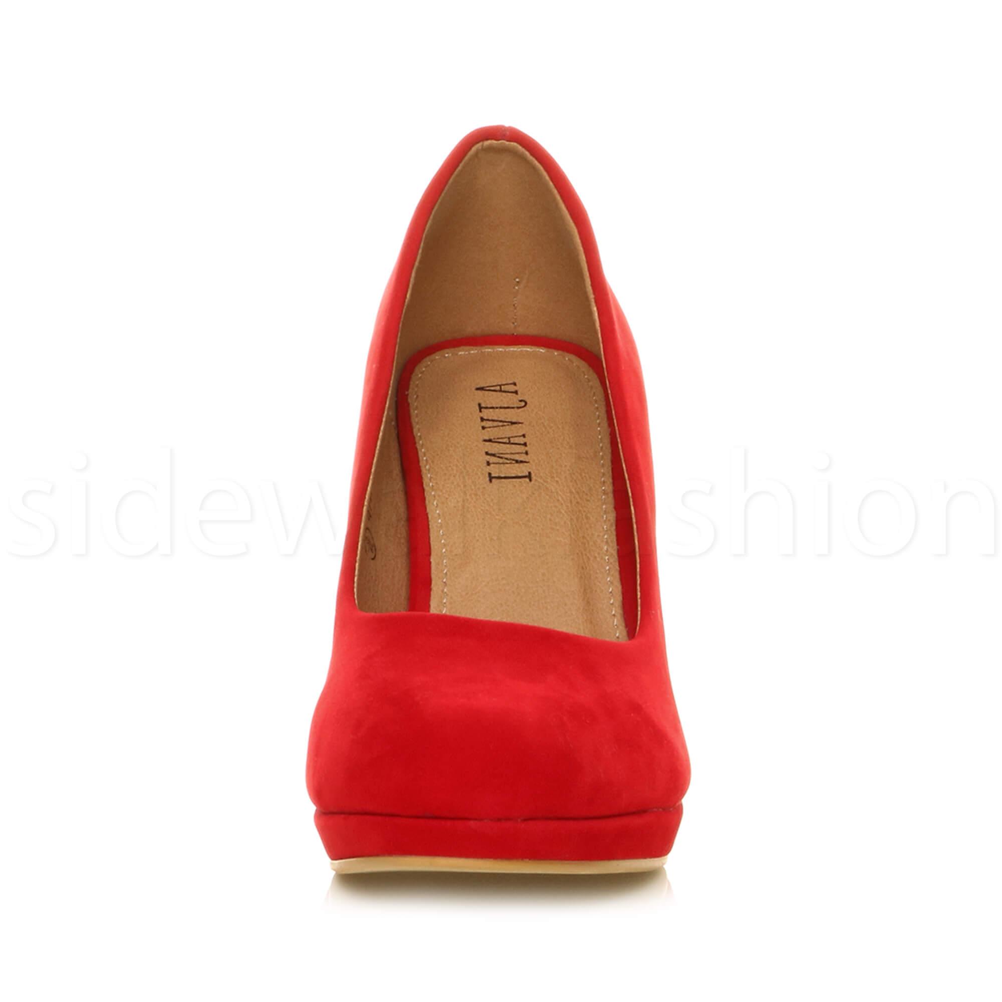 Womens-ladies-high-mid-heel-platform-wedding-evening-bridesmaid-court-shoes-size thumbnail 153