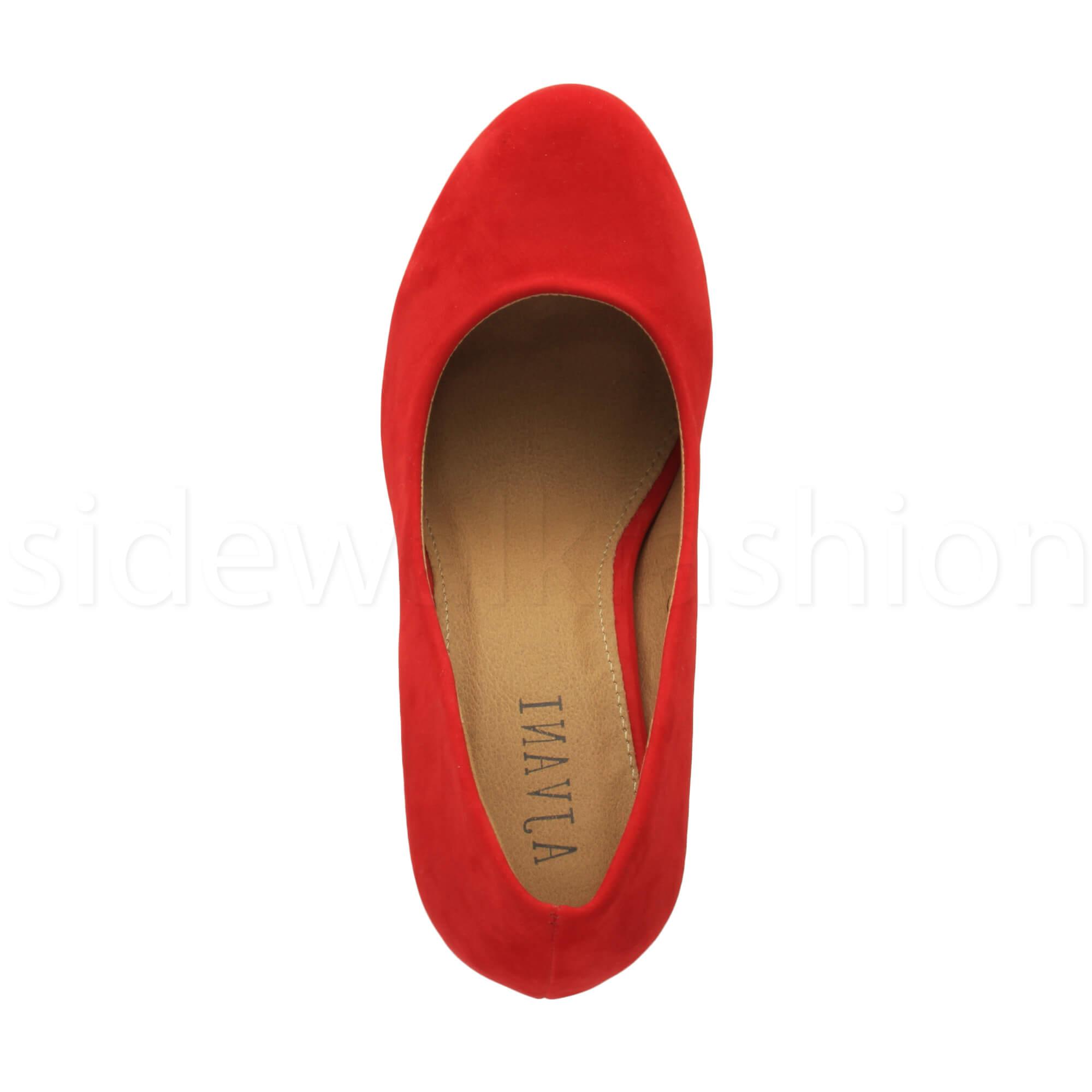 Womens-ladies-high-mid-heel-platform-wedding-evening-bridesmaid-court-shoes-size thumbnail 154