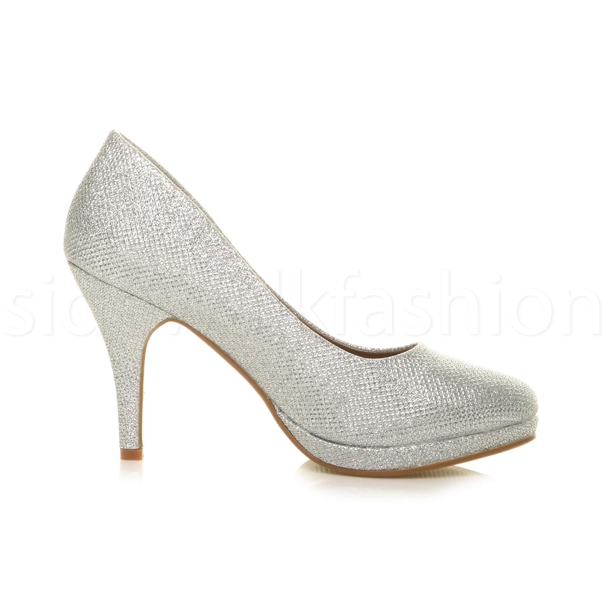 Womens-ladies-high-mid-heel-platform-wedding-evening-bridesmaid-court-shoes-size thumbnail 172
