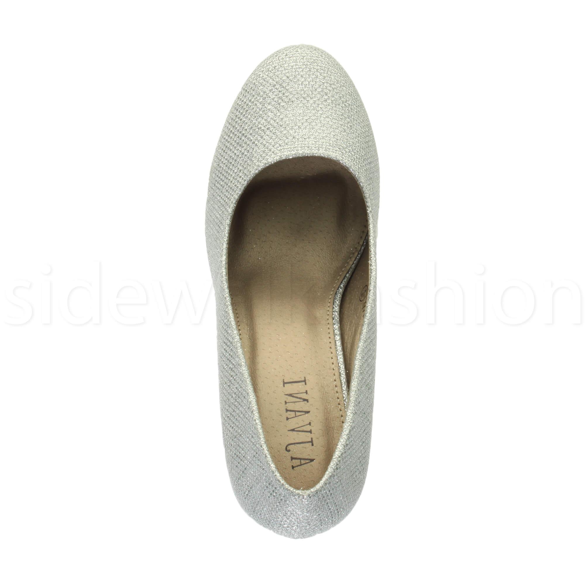 Womens-ladies-high-mid-heel-platform-wedding-evening-bridesmaid-court-shoes-size thumbnail 175