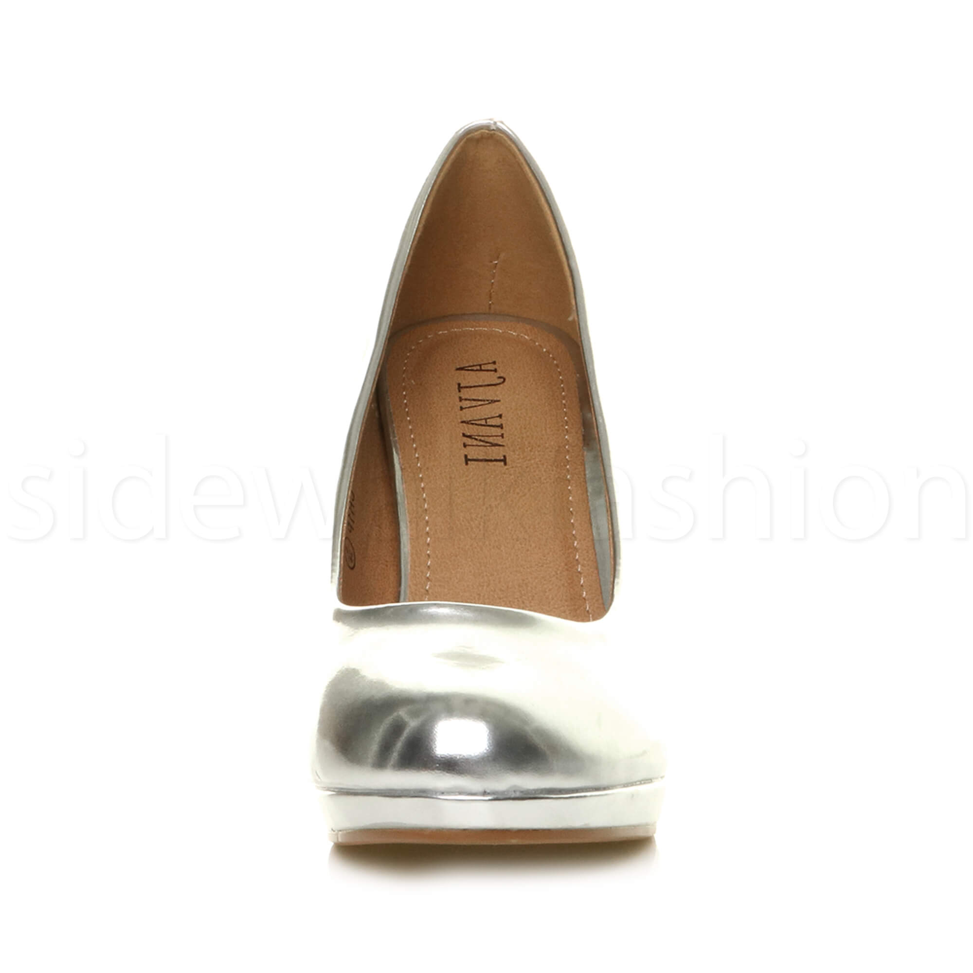 Womens-ladies-high-mid-heel-platform-wedding-evening-bridesmaid-court-shoes-size thumbnail 167
