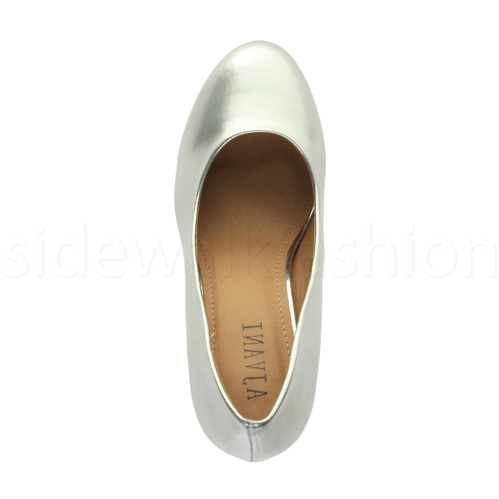 Womens-ladies-high-mid-heel-platform-wedding-evening-bridesmaid-court-shoes-size thumbnail 168