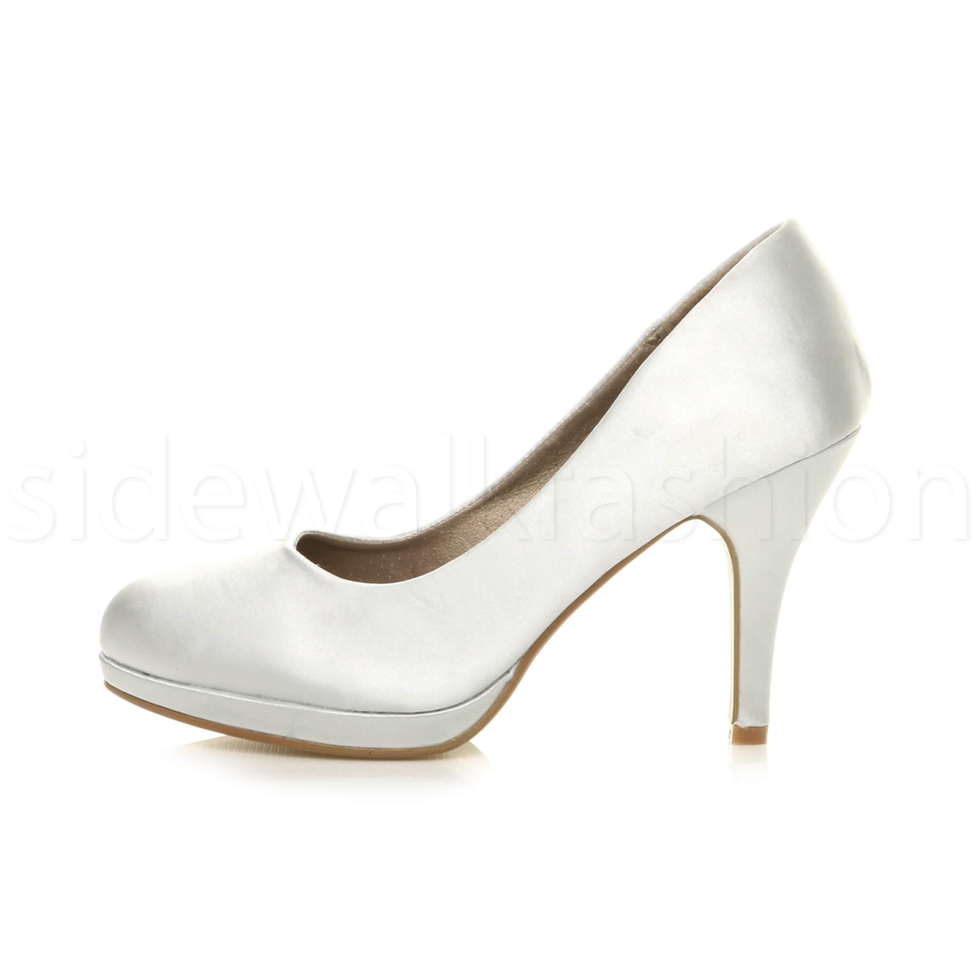 Womens-ladies-high-mid-heel-platform-wedding-evening-bridesmaid-court-shoes-size thumbnail 185