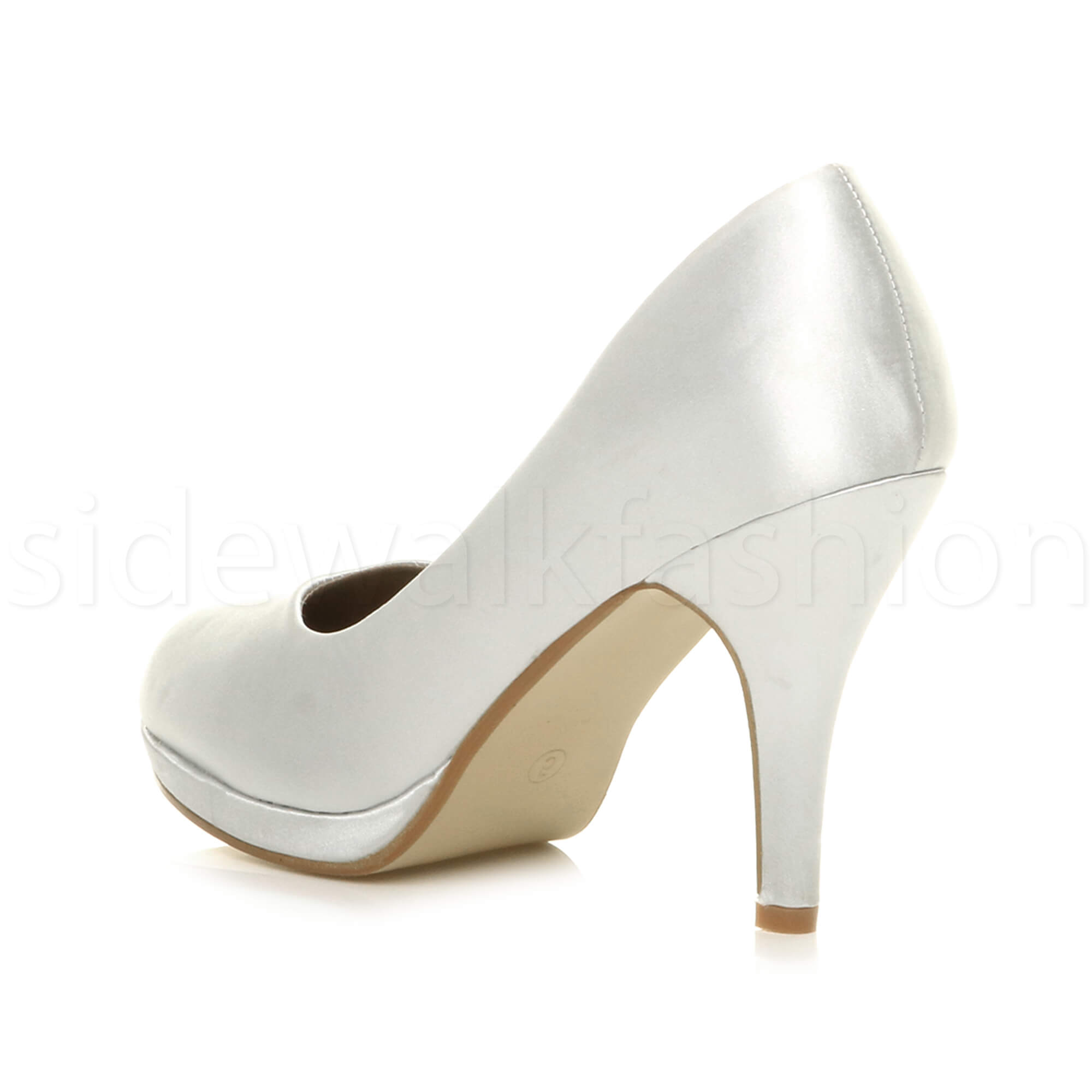 Womens-ladies-high-mid-heel-platform-wedding-evening-bridesmaid-court-shoes-size thumbnail 187