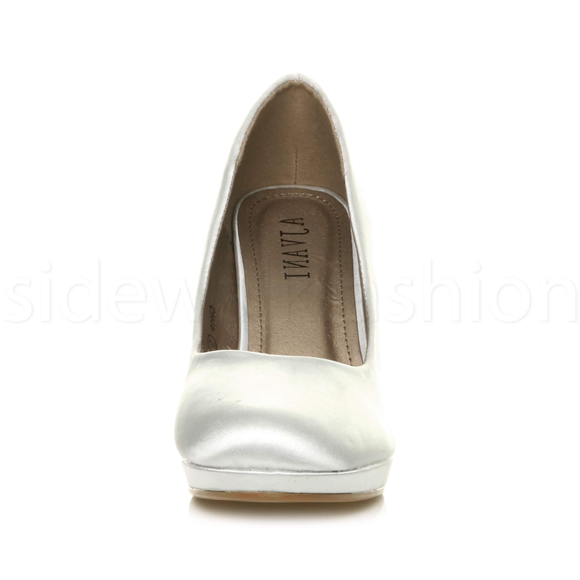 Womens-ladies-high-mid-heel-platform-wedding-evening-bridesmaid-court-shoes-size thumbnail 188