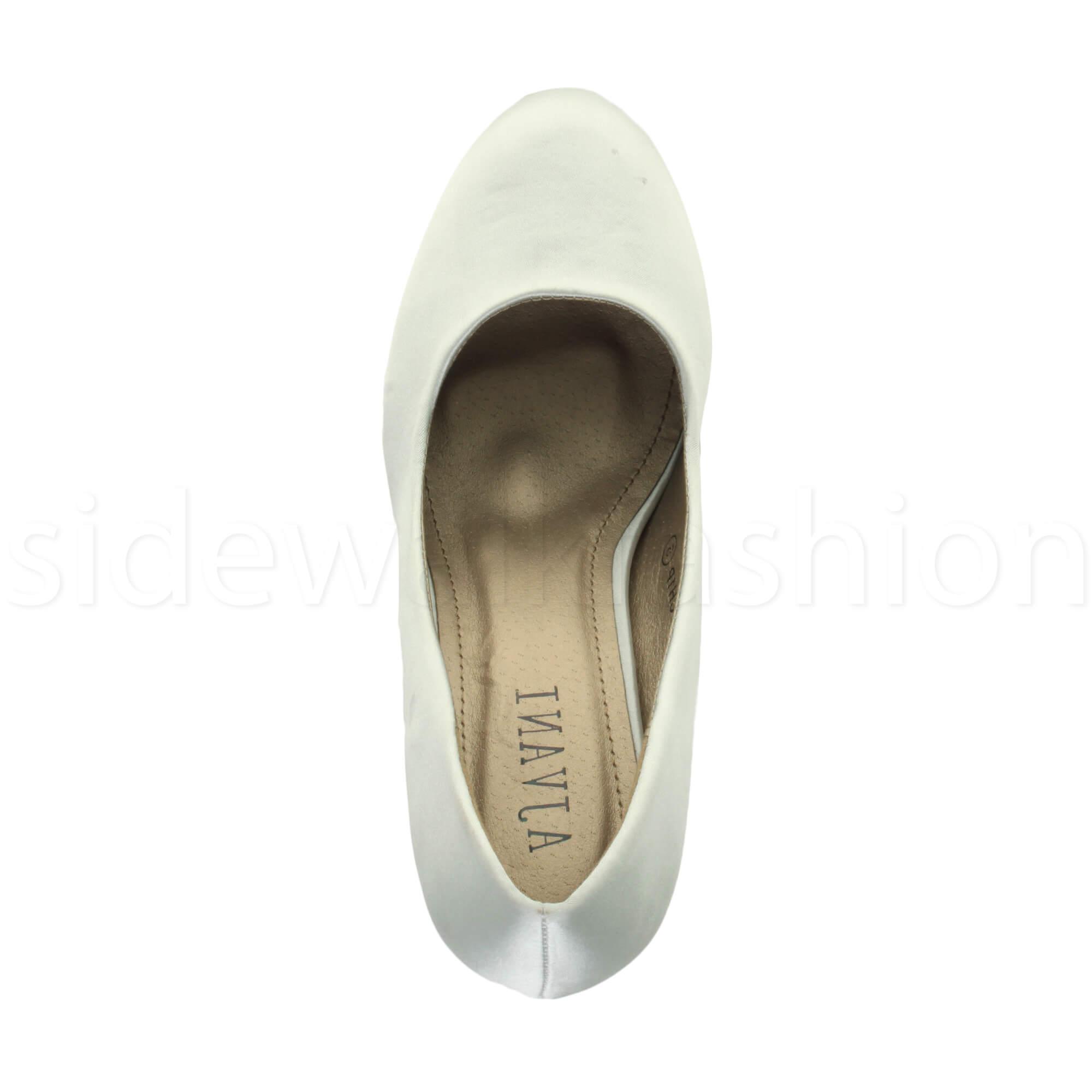 Womens-ladies-high-mid-heel-platform-wedding-evening-bridesmaid-court-shoes-size thumbnail 189