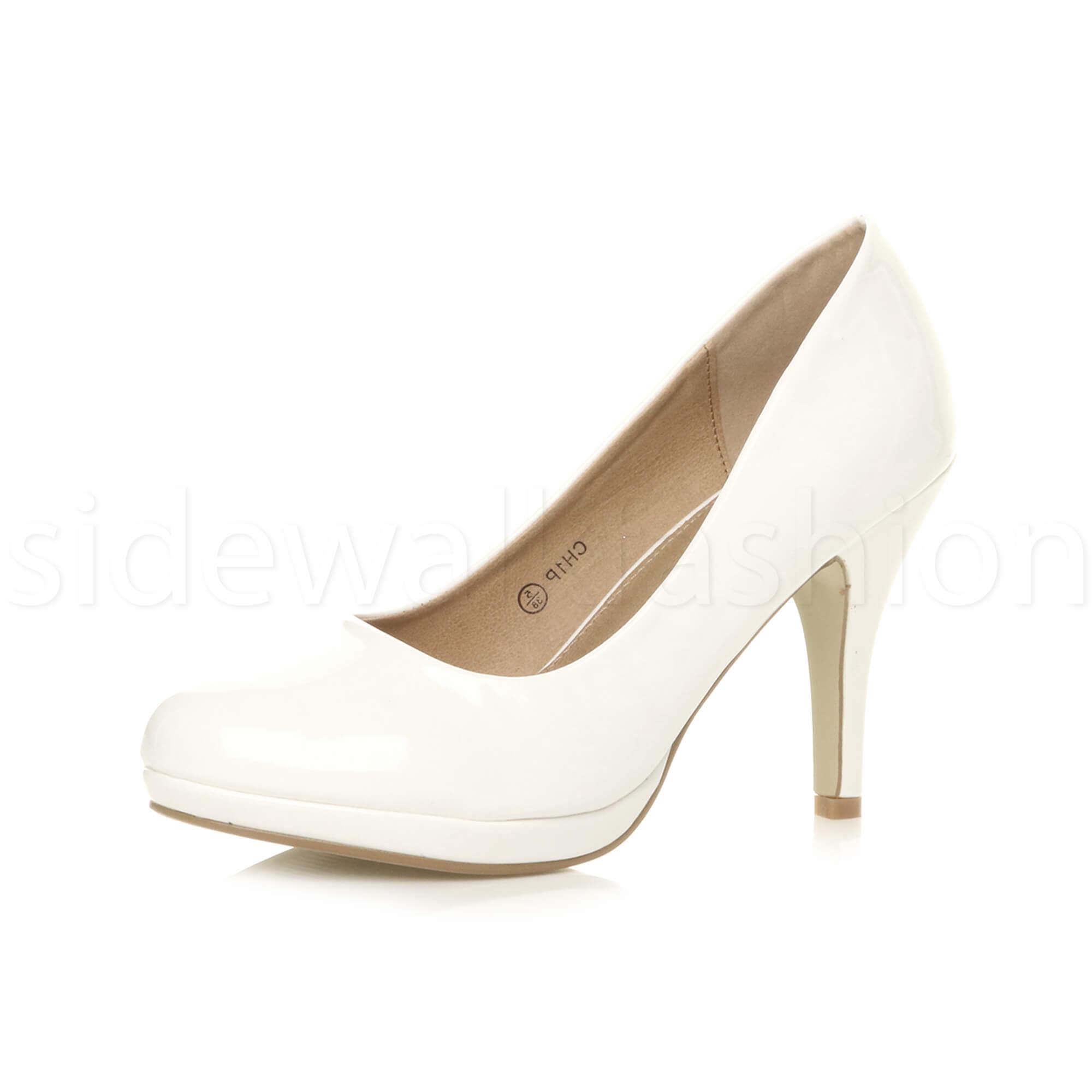 184192ac50c7 Womens Ladies High Mid Heel Platform Work Evening Party PUMPS Court ...