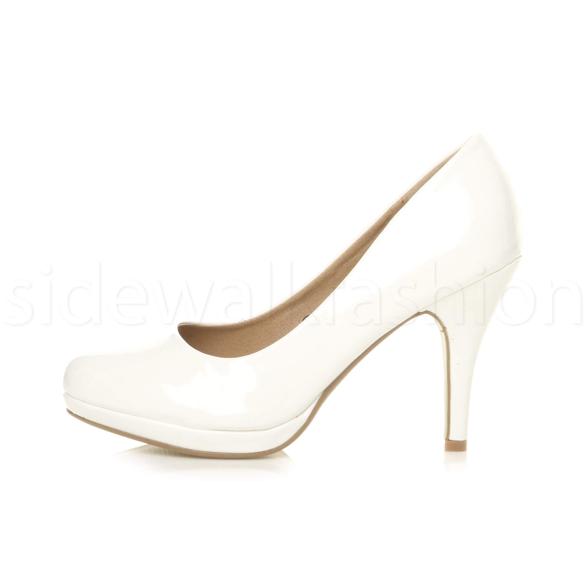 Womens-ladies-high-mid-heel-platform-wedding-evening-bridesmaid-court-shoes-size thumbnail 192