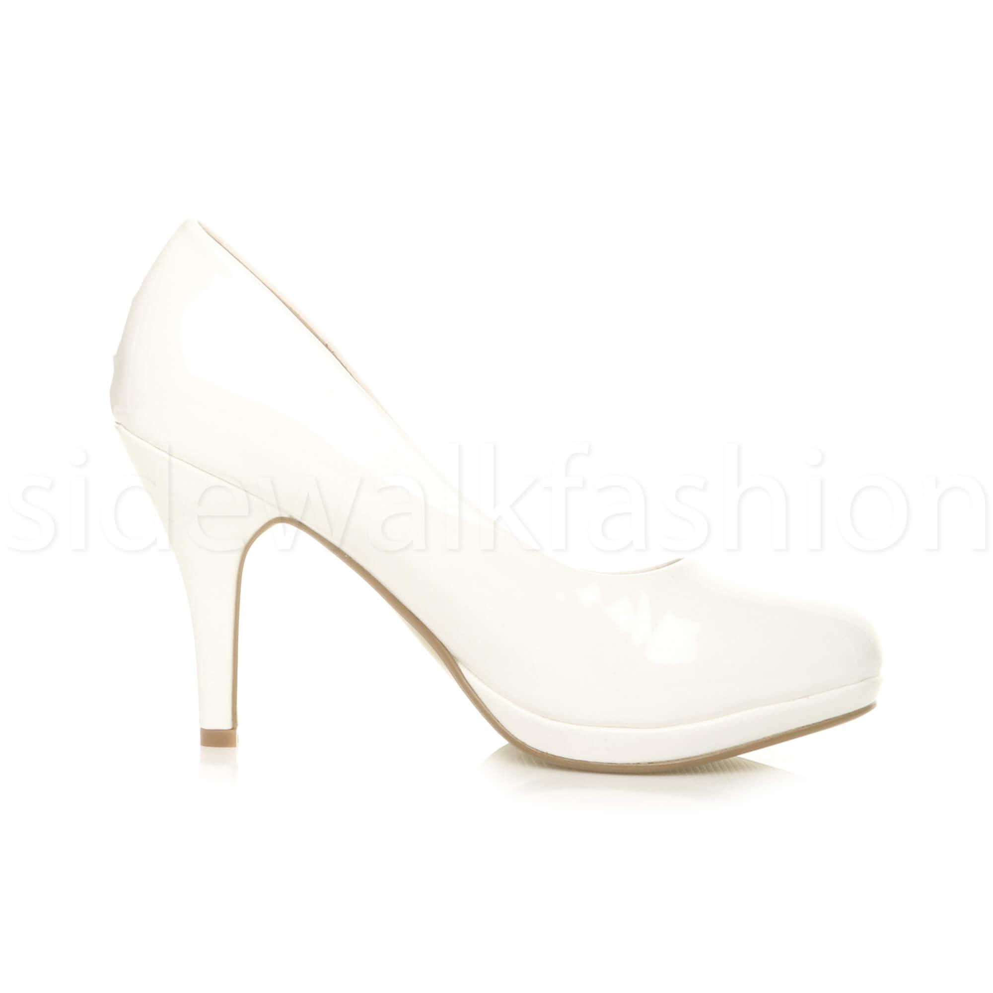 Womens-ladies-high-mid-heel-platform-wedding-evening-bridesmaid-court-shoes-size thumbnail 193