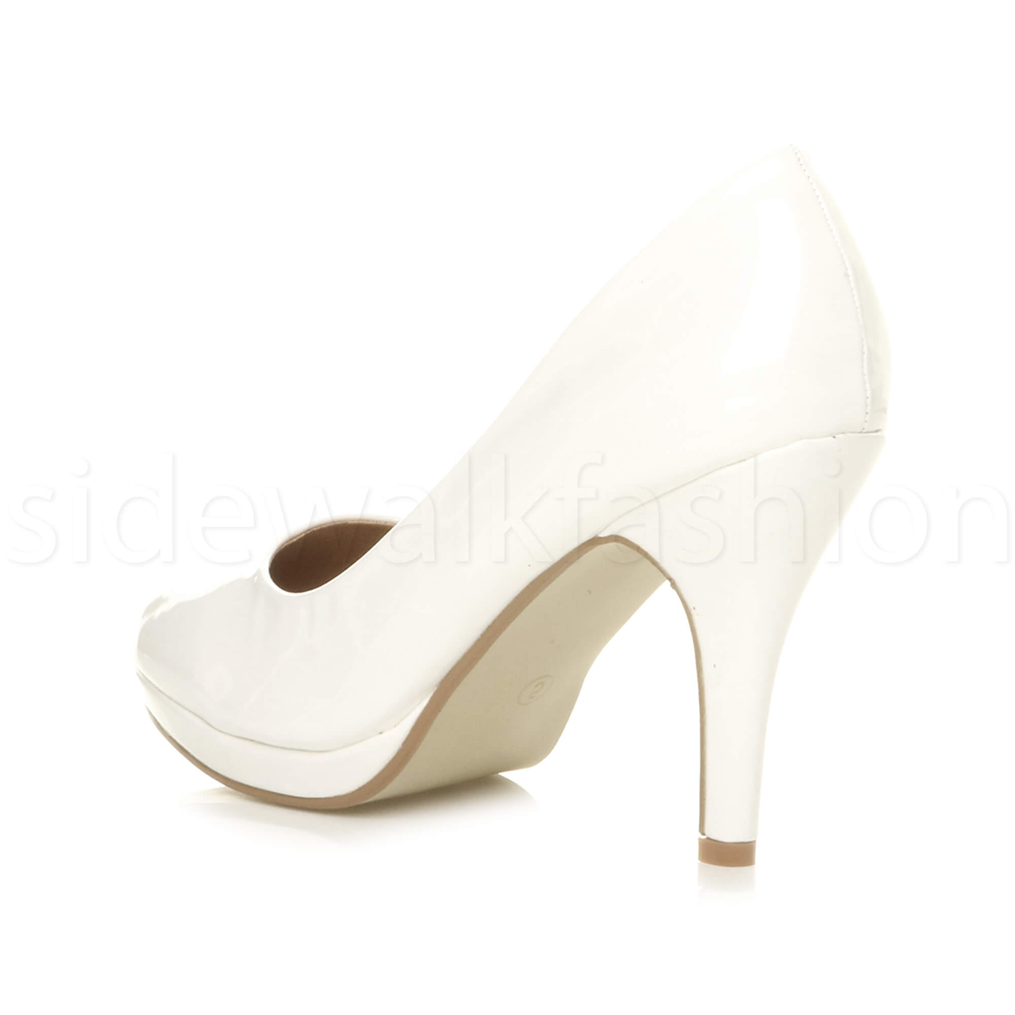 Womens-ladies-high-mid-heel-platform-wedding-evening-bridesmaid-court-shoes-size thumbnail 194