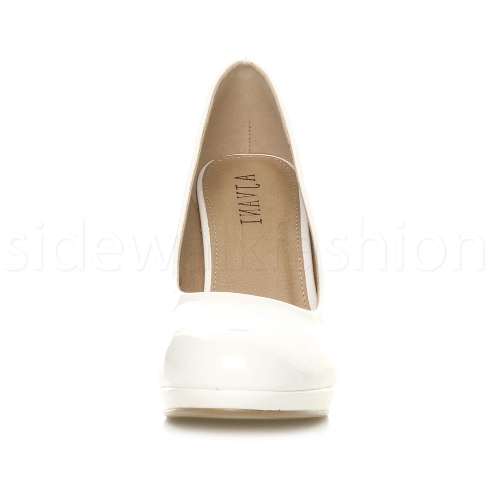 Womens-ladies-high-mid-heel-platform-wedding-evening-bridesmaid-court-shoes-size thumbnail 195