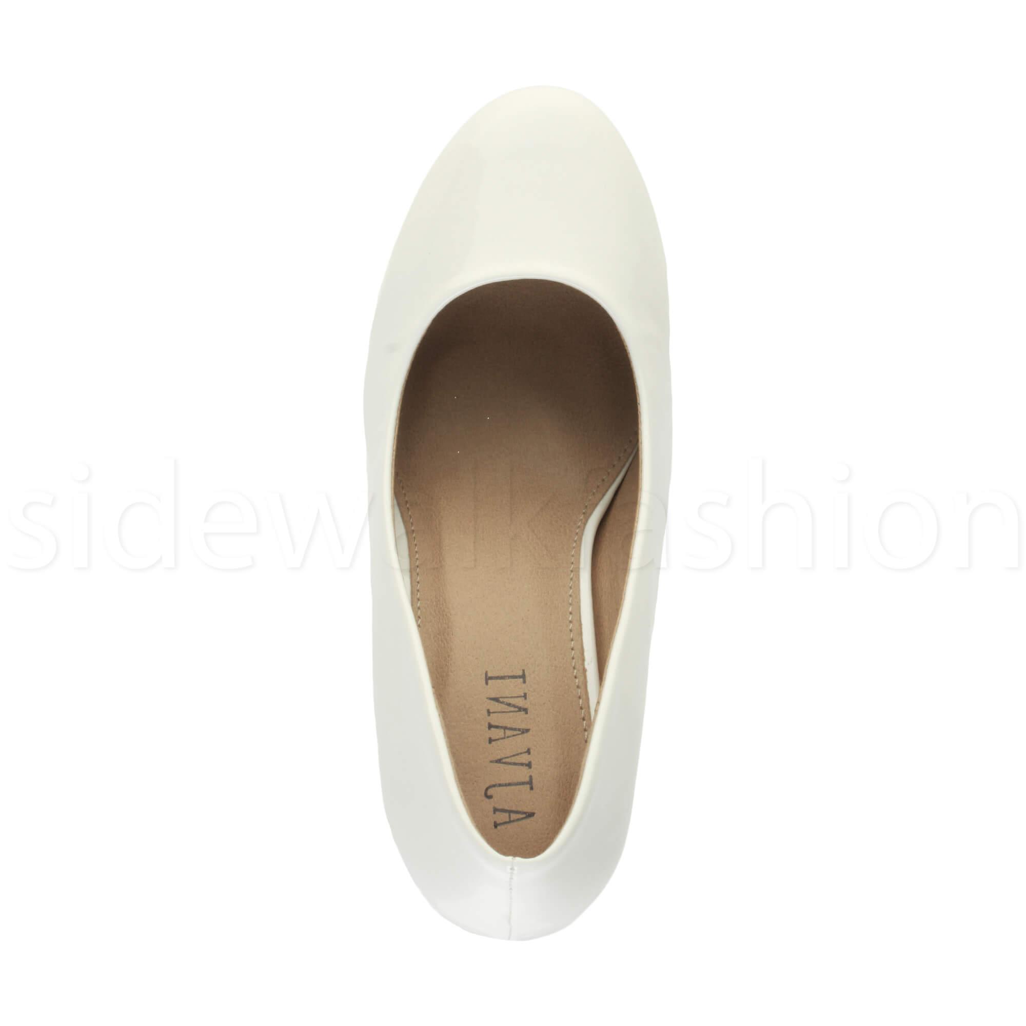 Womens-ladies-high-mid-heel-platform-wedding-evening-bridesmaid-court-shoes-size thumbnail 196