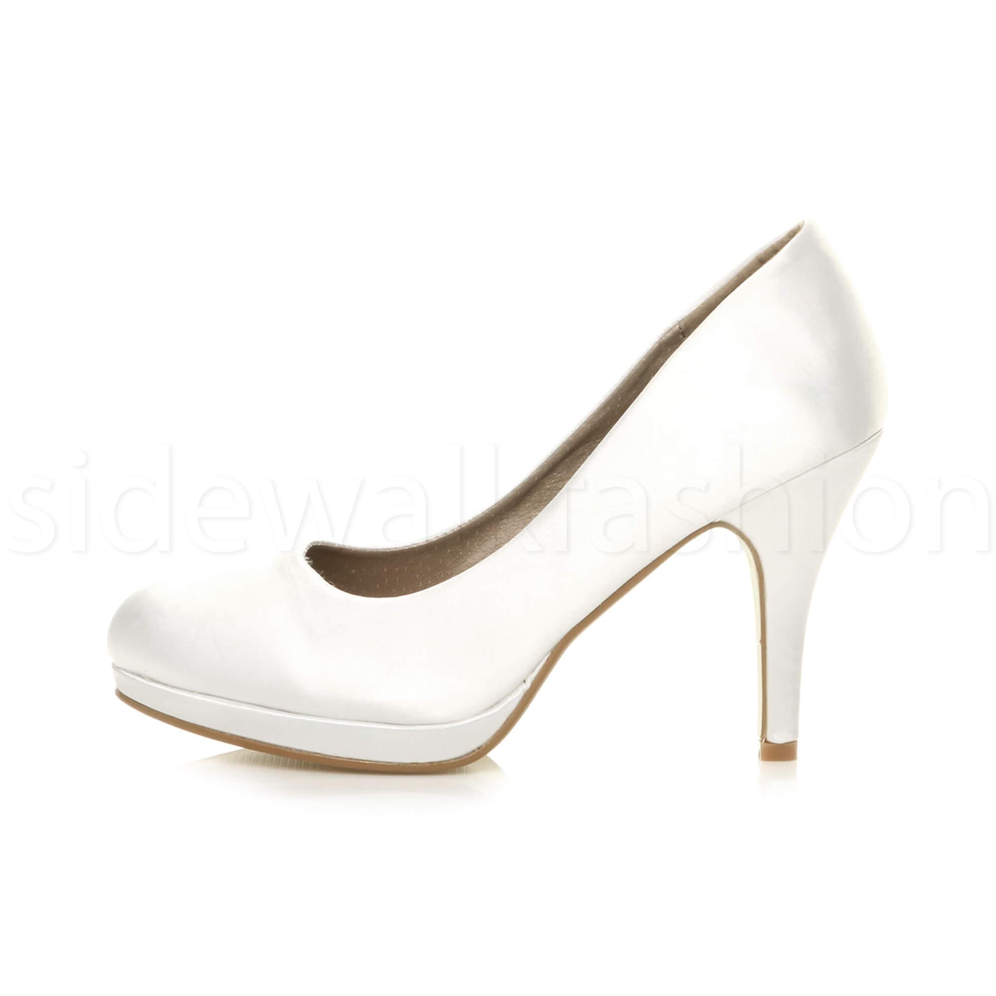Womens-ladies-high-mid-heel-platform-wedding-evening-bridesmaid-court-shoes-size thumbnail 199