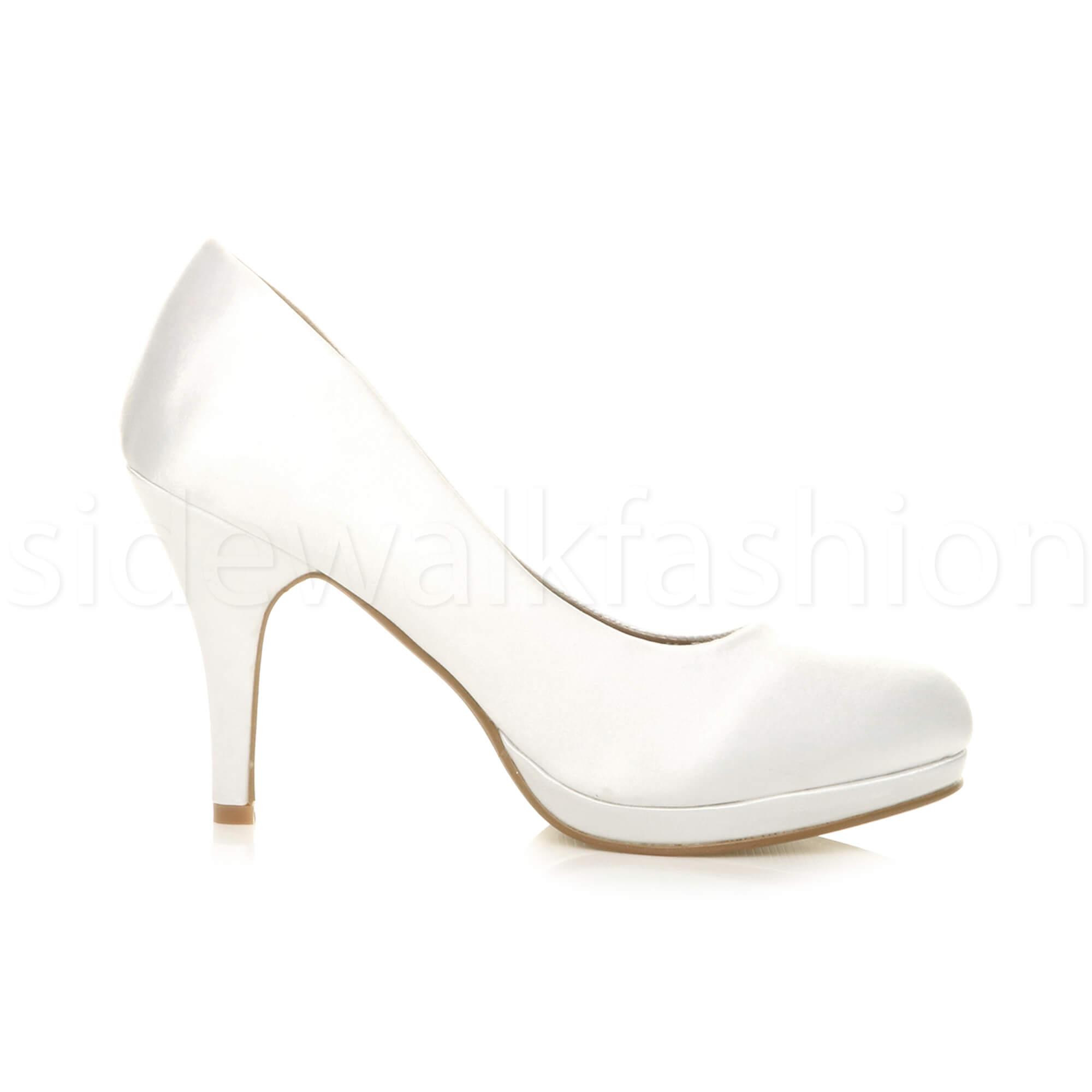 Womens-ladies-high-mid-heel-platform-wedding-evening-bridesmaid-court-shoes-size thumbnail 200