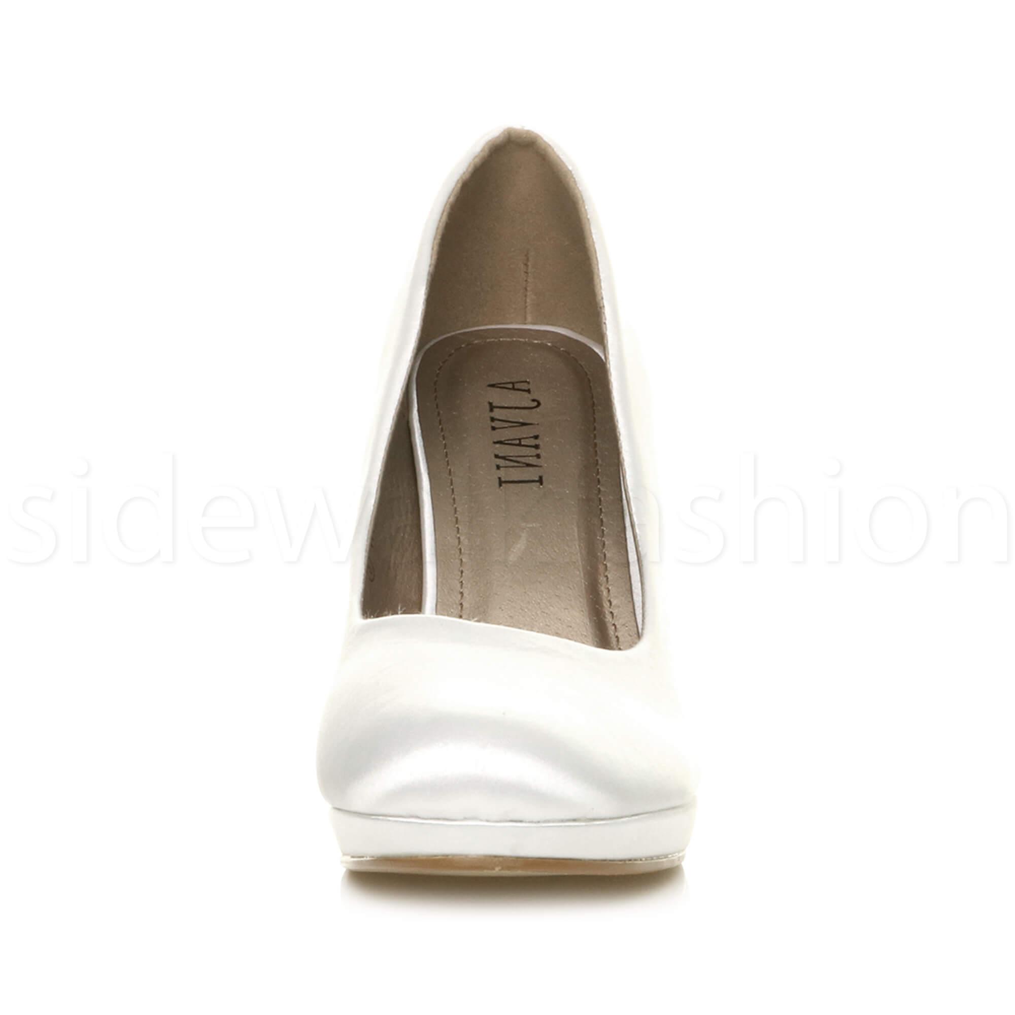 Womens-ladies-high-mid-heel-platform-wedding-evening-bridesmaid-court-shoes-size thumbnail 202