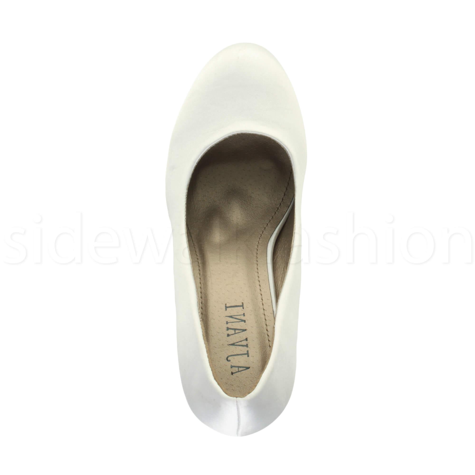 Womens-ladies-high-mid-heel-platform-wedding-evening-bridesmaid-court-shoes-size thumbnail 203
