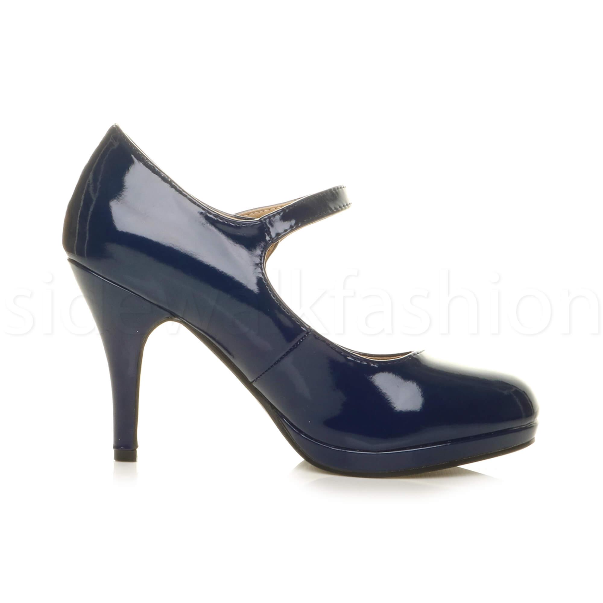 Medium Heel Womens Shoes Strap High Zu Pumps Platform Size Jane Details Court Mary Ladies dxtrsQCh