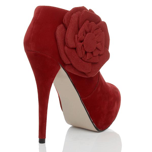 Womens-ladies-high-heel-platform-zip-flower-ankle-booties-shoe-boots-size