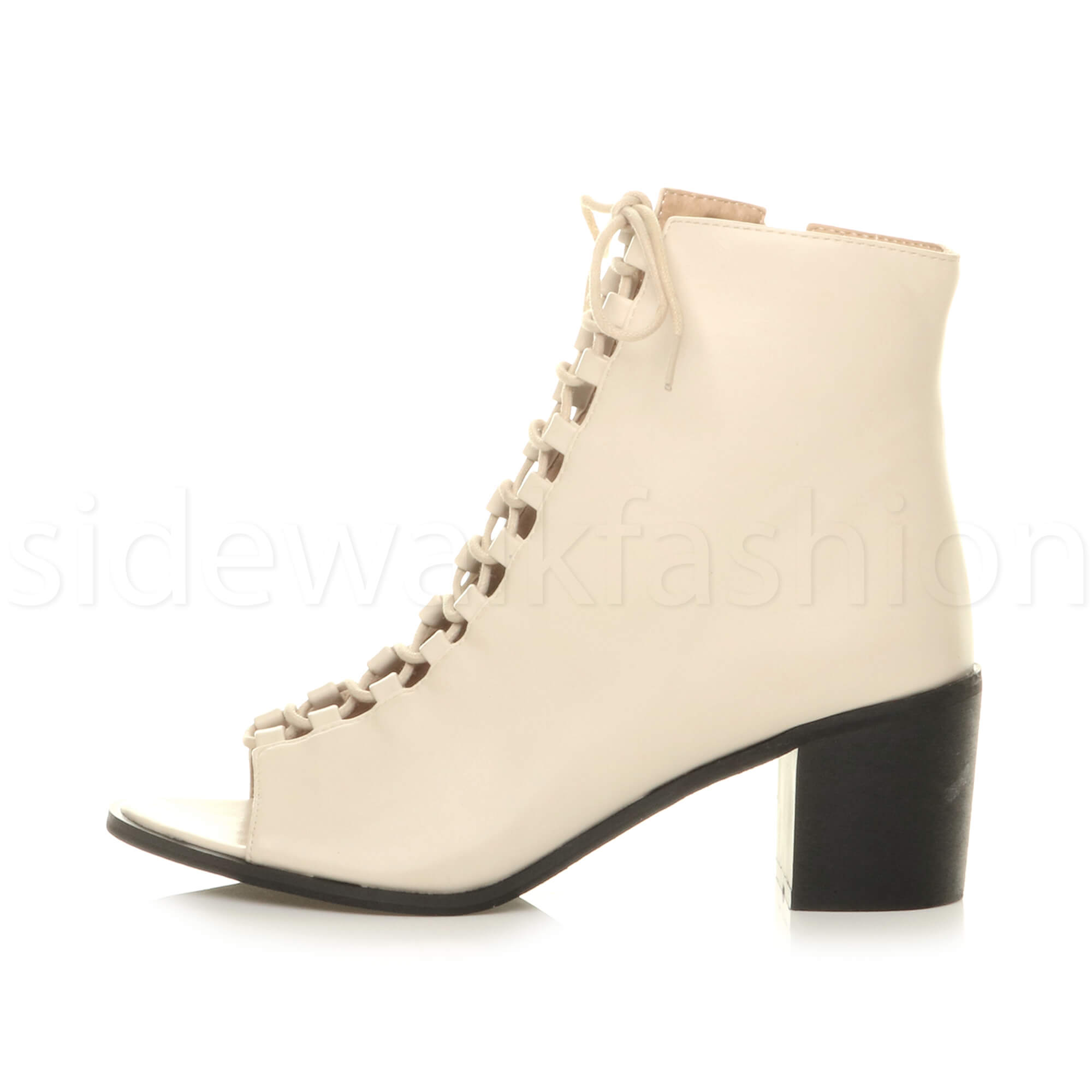 Womens-medium-heel-ladies-ghillie-lace-up-peep-toe-shoe-ankle-boots-sandals-size