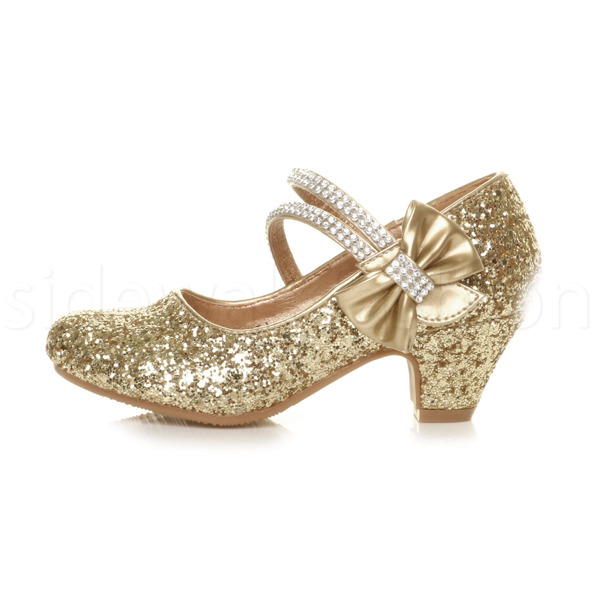 7989d67578e Girls kids childrens low heel party wedding mary jane sandals court ...