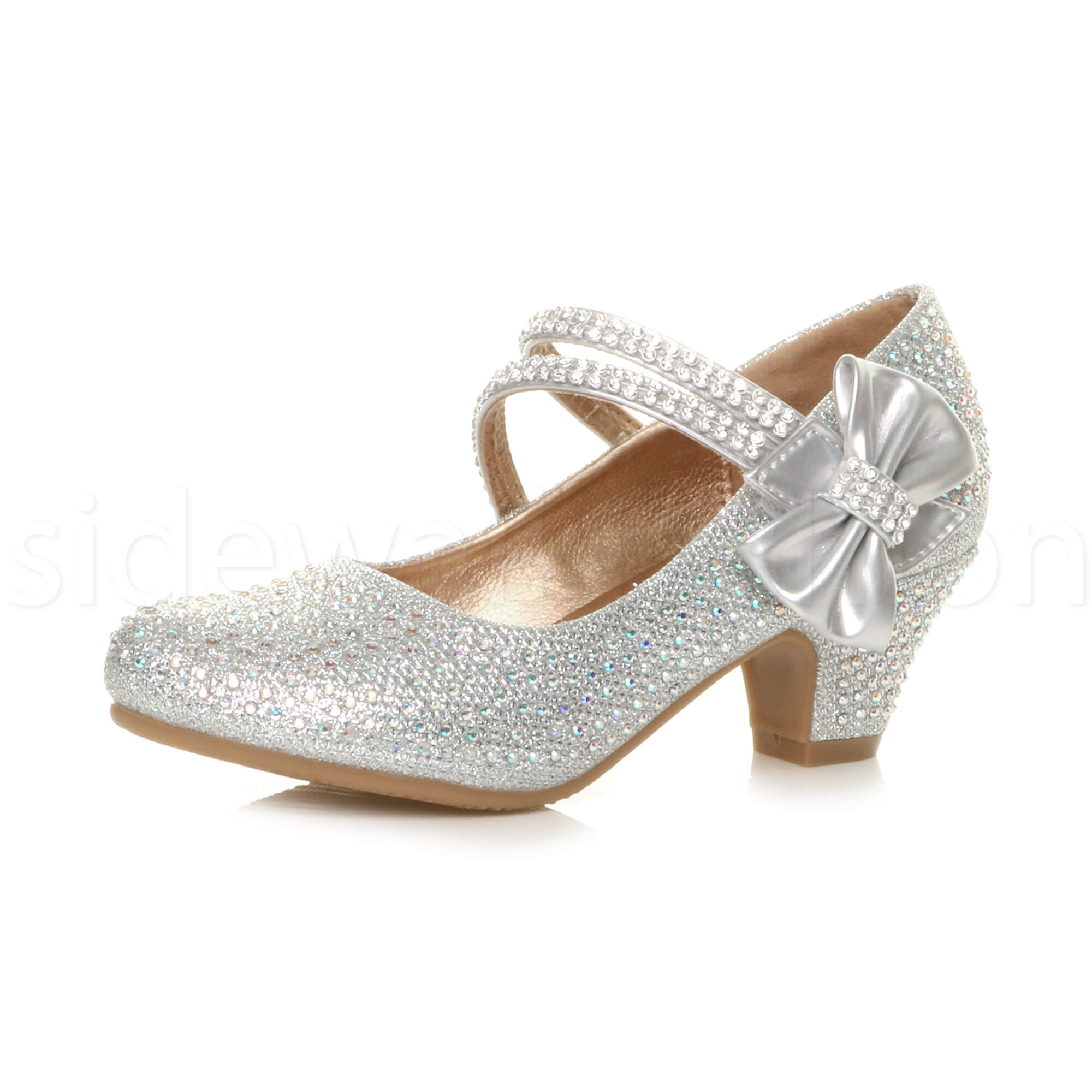 Mary Jane Kids Shoes Size  Silver