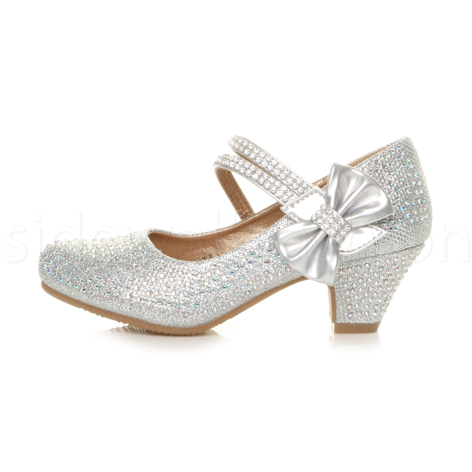 Charming Girls Kids Childrens Low Heel Party Wedding Mary