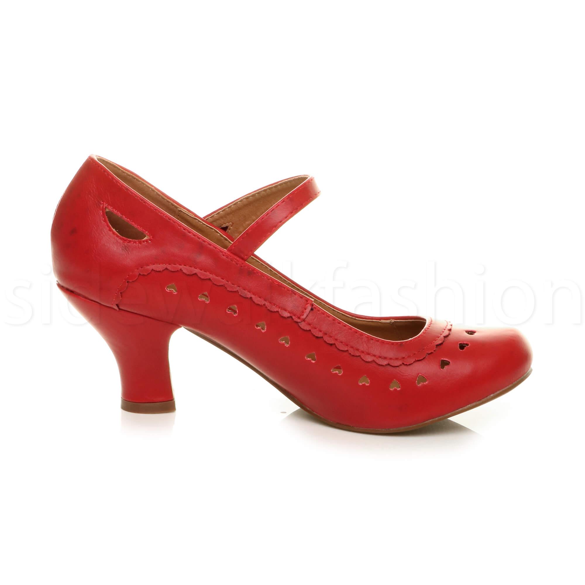 miniatura 46 - Da Donna Donna Stiletto Basso Mary Jane Stile Scarpe Eleganti Lavoro Pompe Dimensione