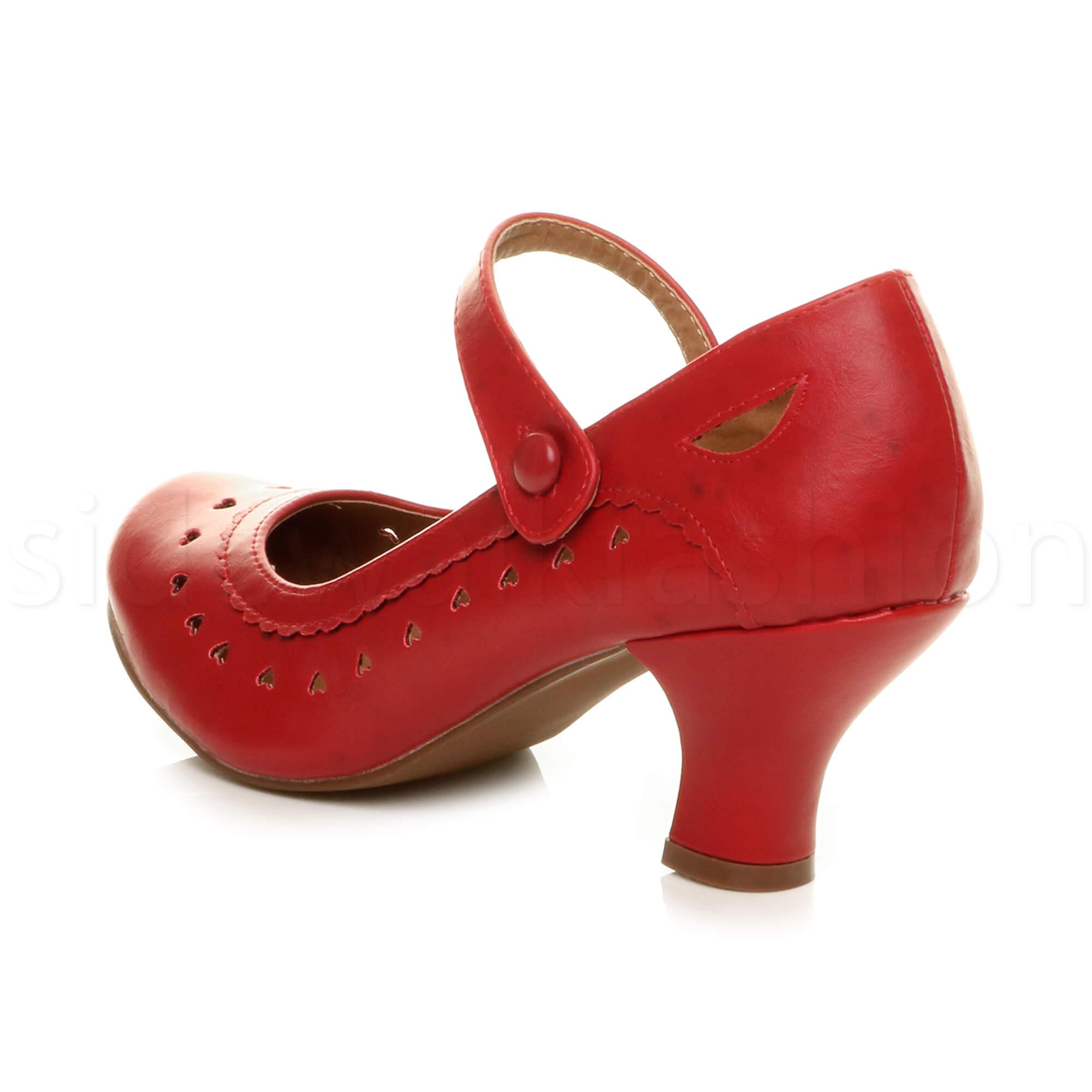 miniatura 47 - Da Donna Donna Stiletto Basso Mary Jane Stile Scarpe Eleganti Lavoro Pompe Dimensione