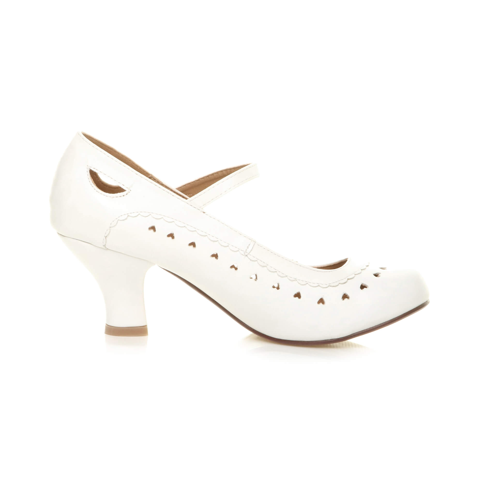 Womens-ladies-low-kitten-heel-mary-jane-style-work-court-shoes-pumps-size