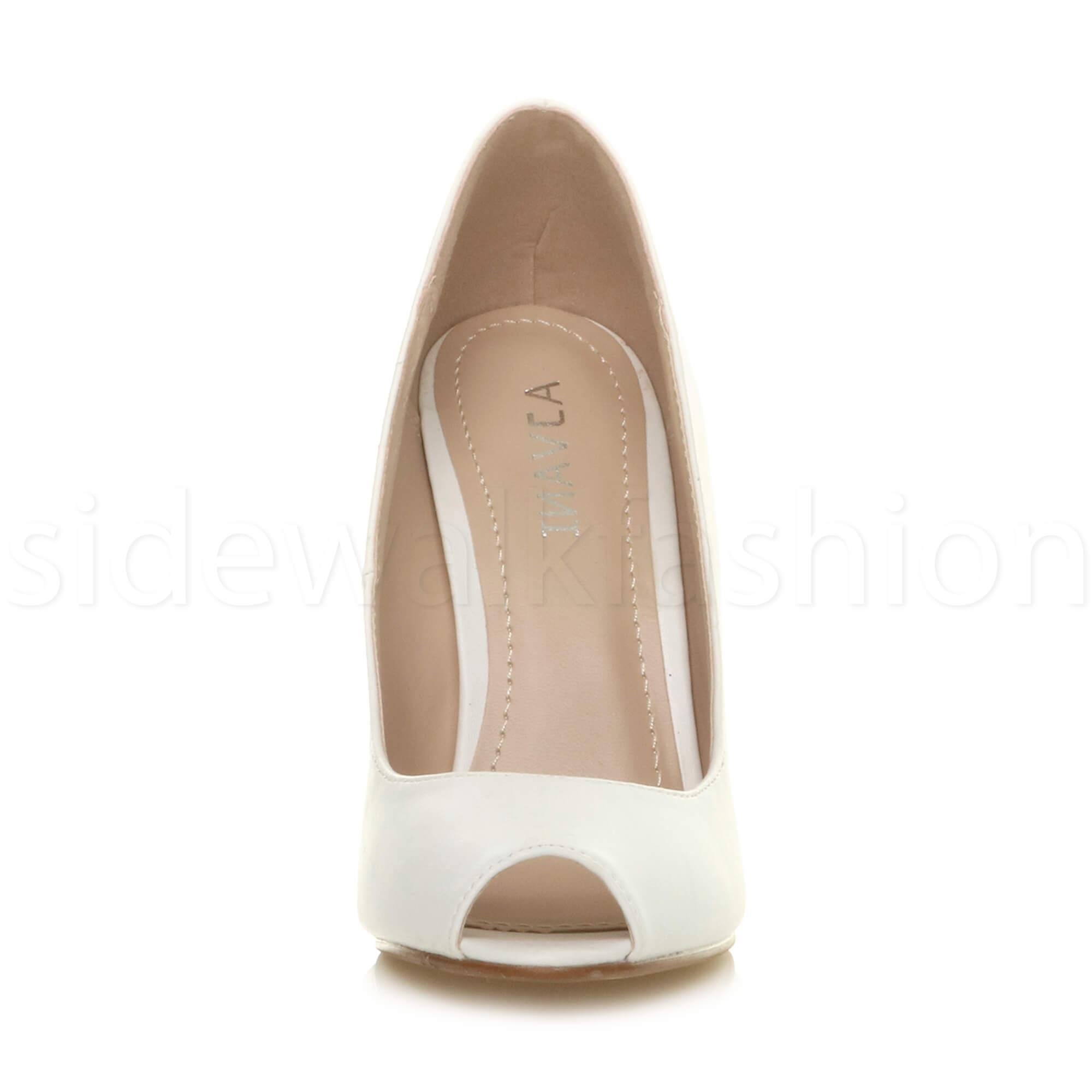 Womens-ladies-high-heel-peep-toe-shoes-court-smart-party-work-sandals-pumps