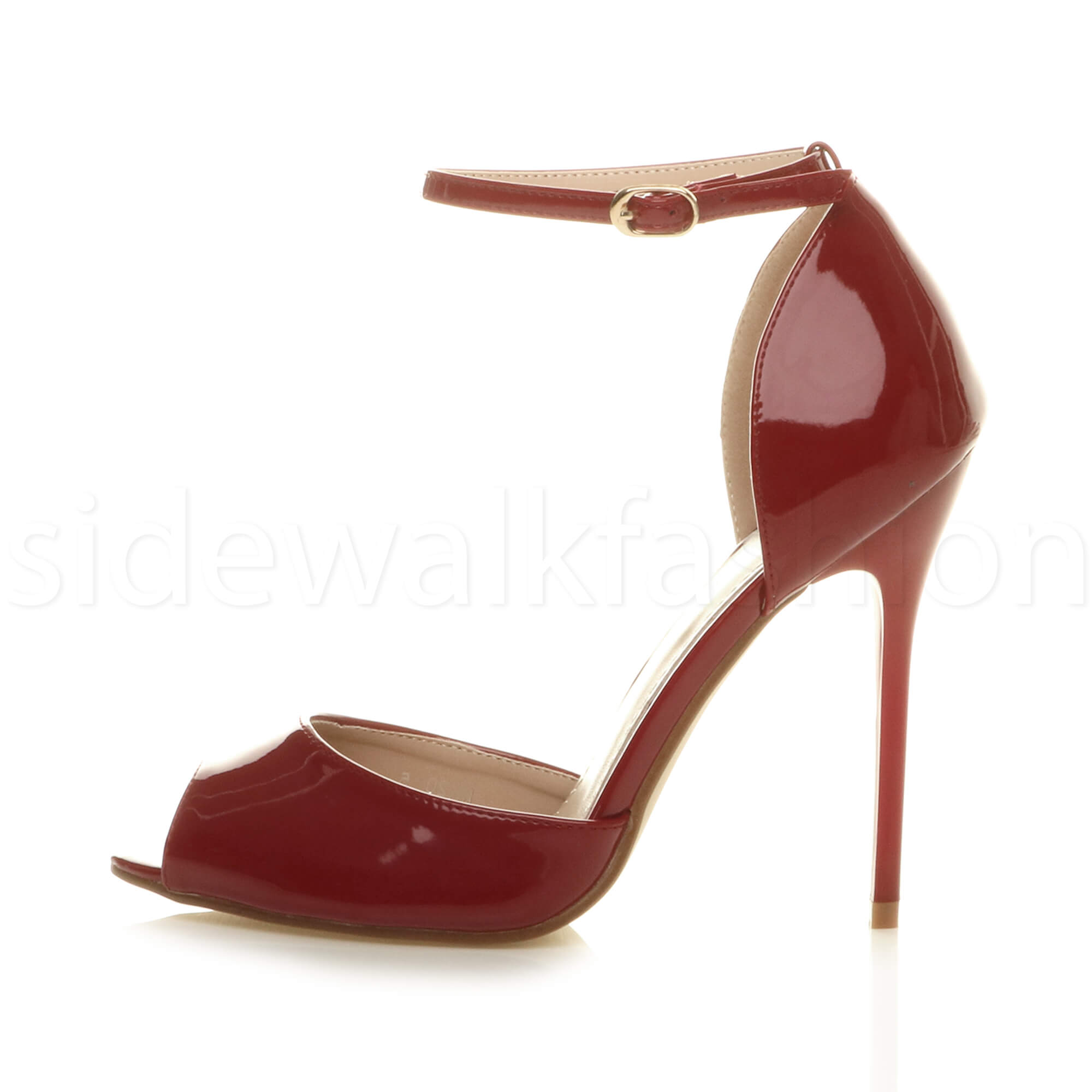 1f854786ac3abe Womens ladies high heel ankle strap wedding party sandals peep toe ...