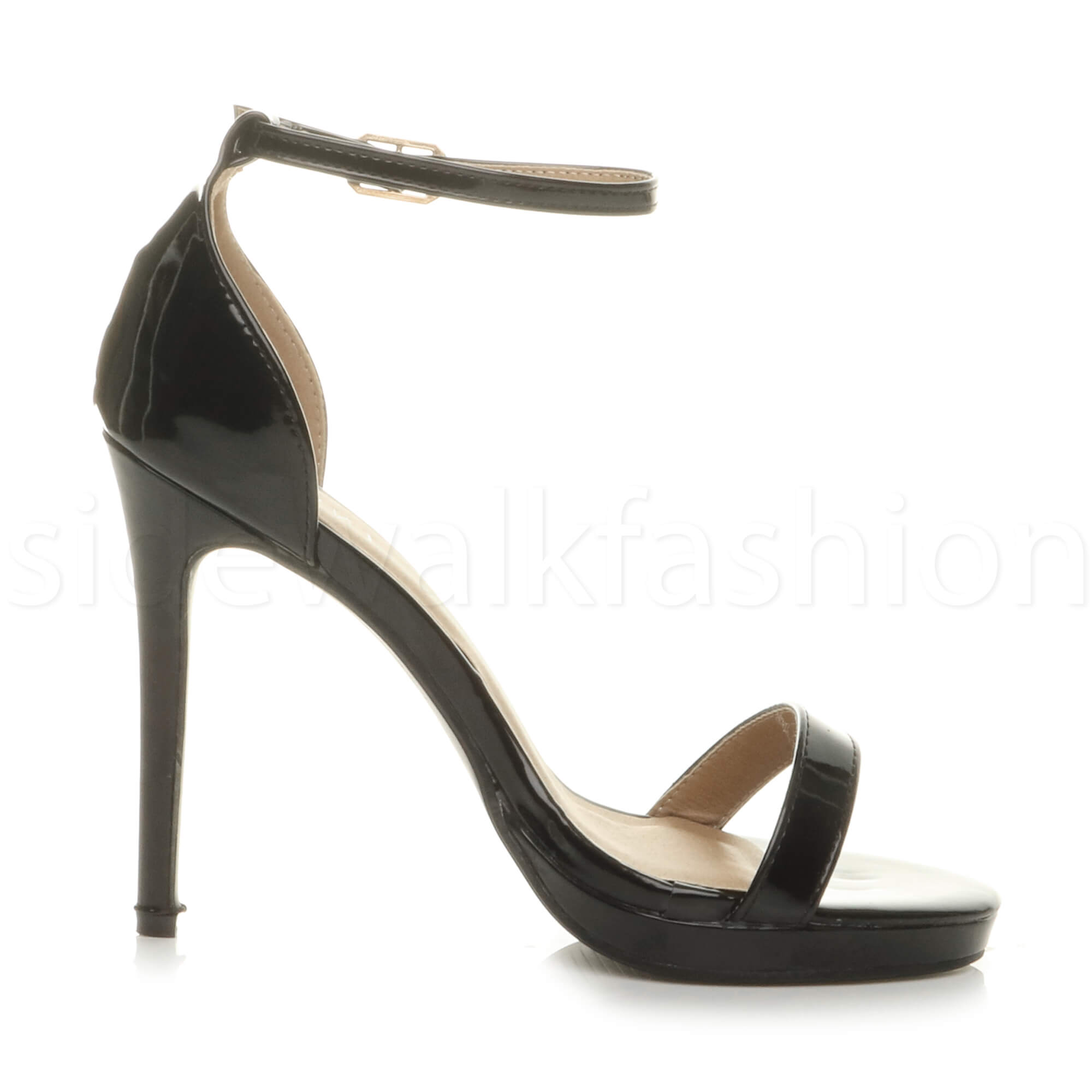 Womens-ladies-high-heel-barely-there-strappy-party-peep-toe-shoes-sandals-size thumbnail 18