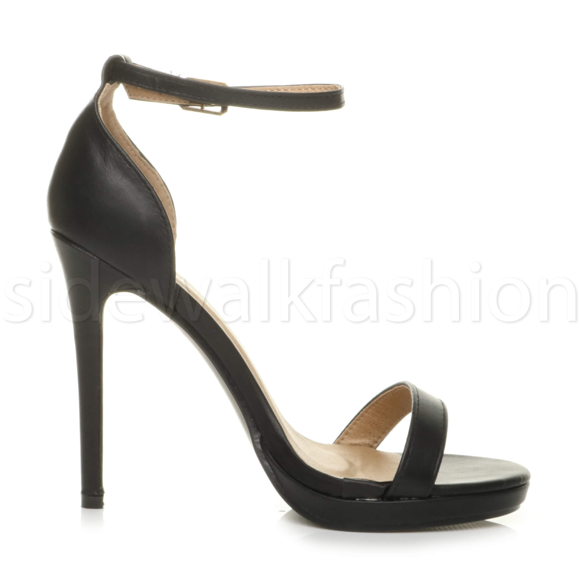 Womens-ladies-high-heel-barely-there-strappy-party-peep-toe-shoes-sandals-size thumbnail 11