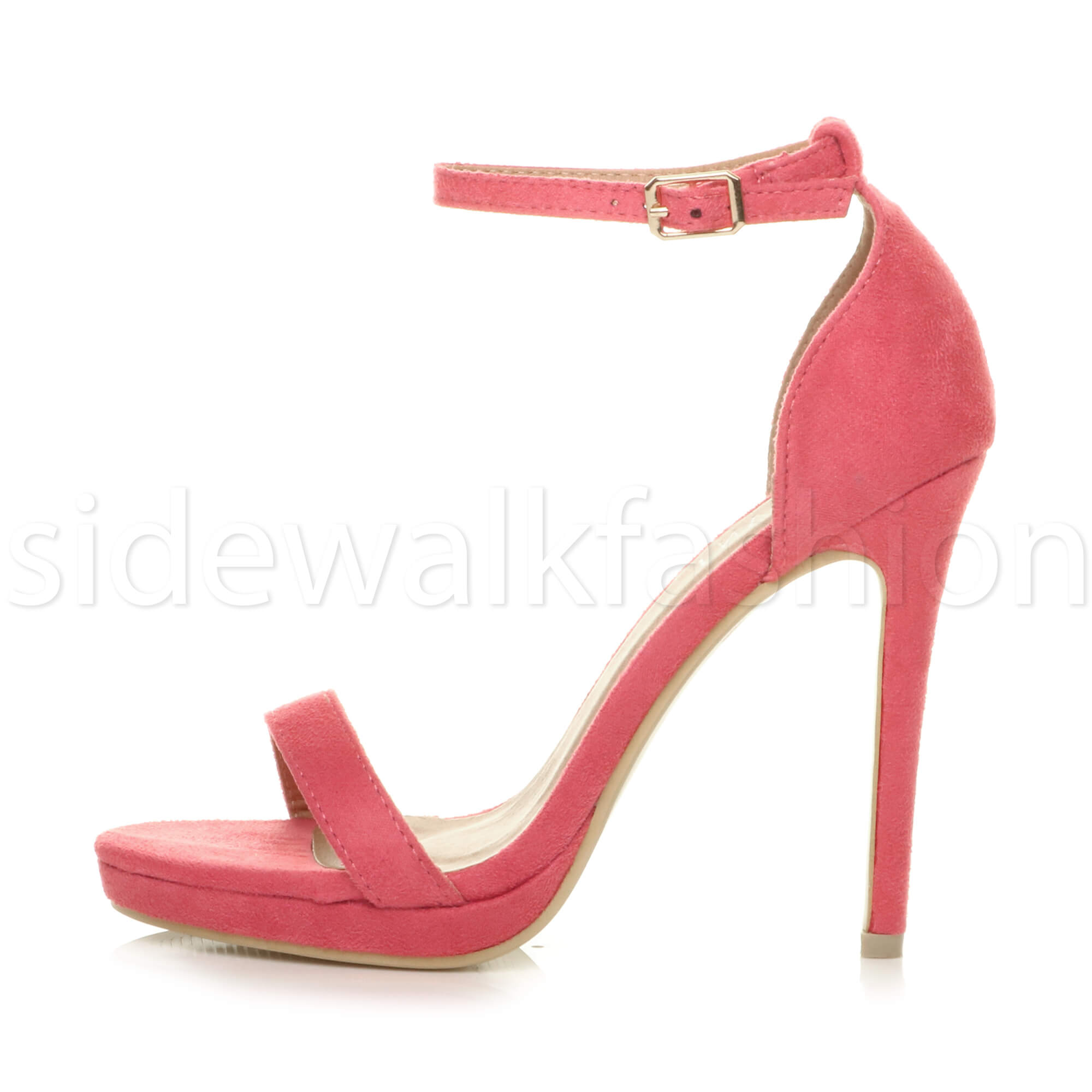 Womens-ladies-high-heel-barely-there-strappy-party-peep-toe-shoes-sandals-size thumbnail 30