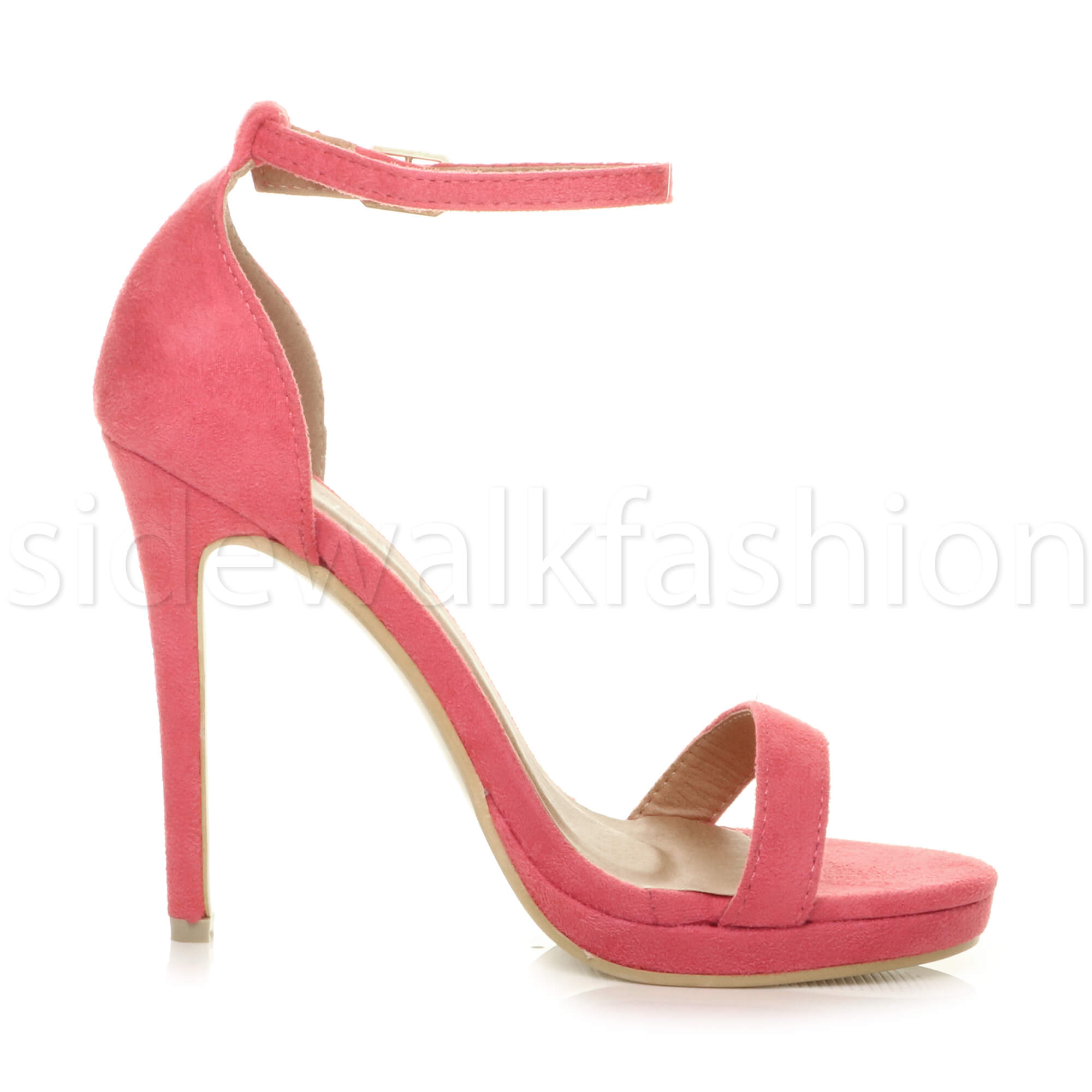 Womens-ladies-high-heel-barely-there-strappy-party-peep-toe-shoes-sandals-size thumbnail 31